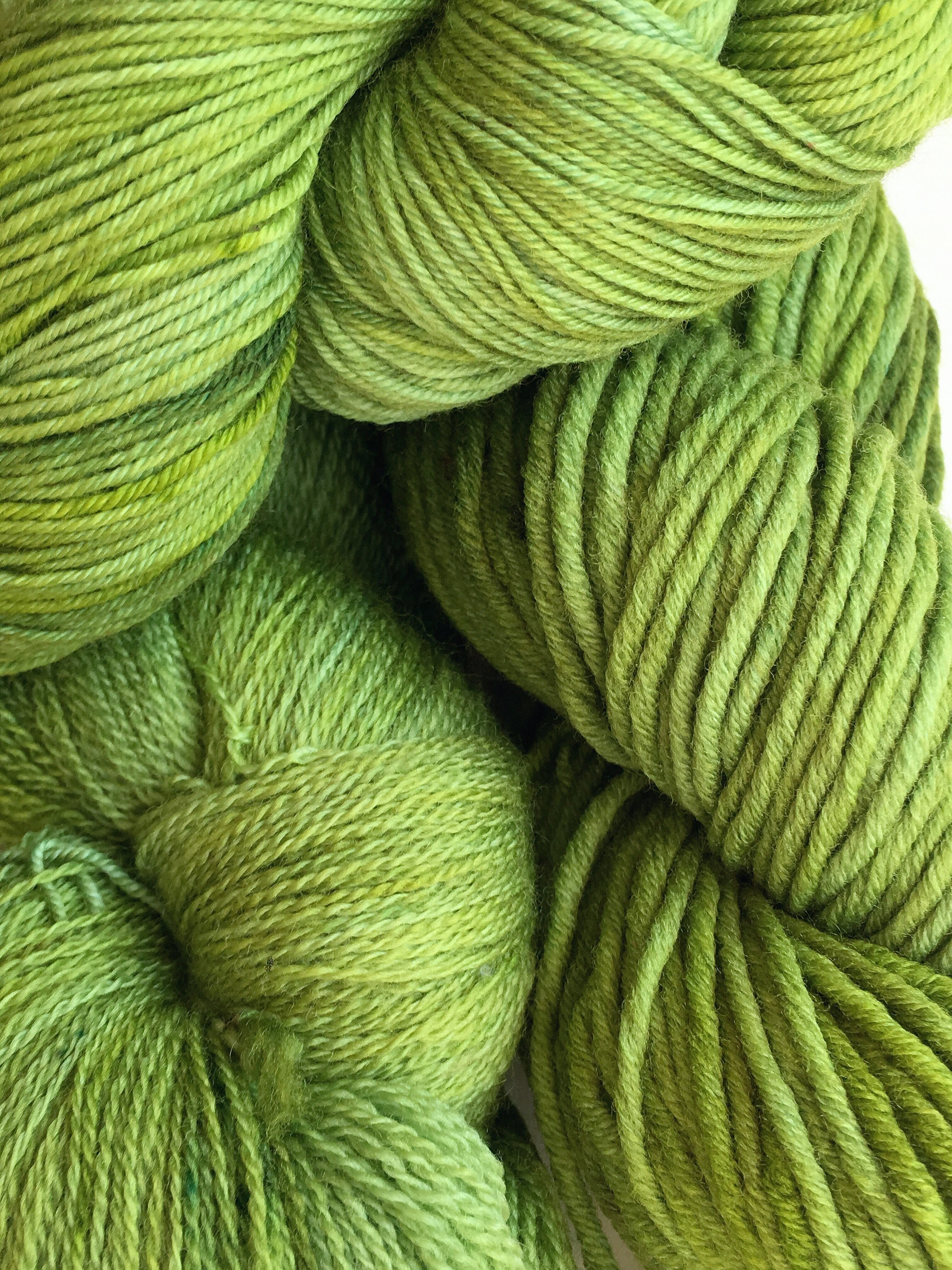 It Ain't Easy  Subtle shades of green from chartreuse, lime, and sage.