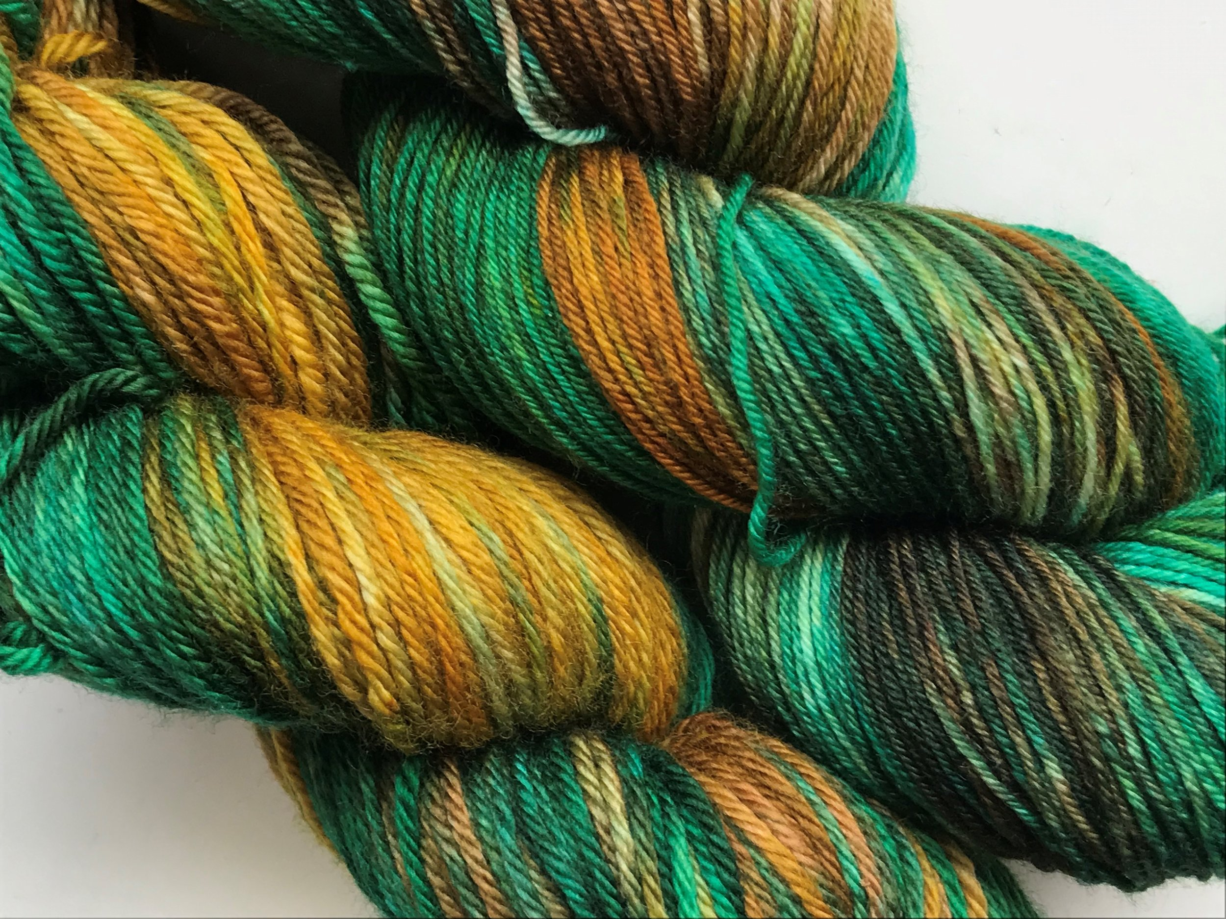 Pictured on Superwash Merino Worsted and Sheepy Feet