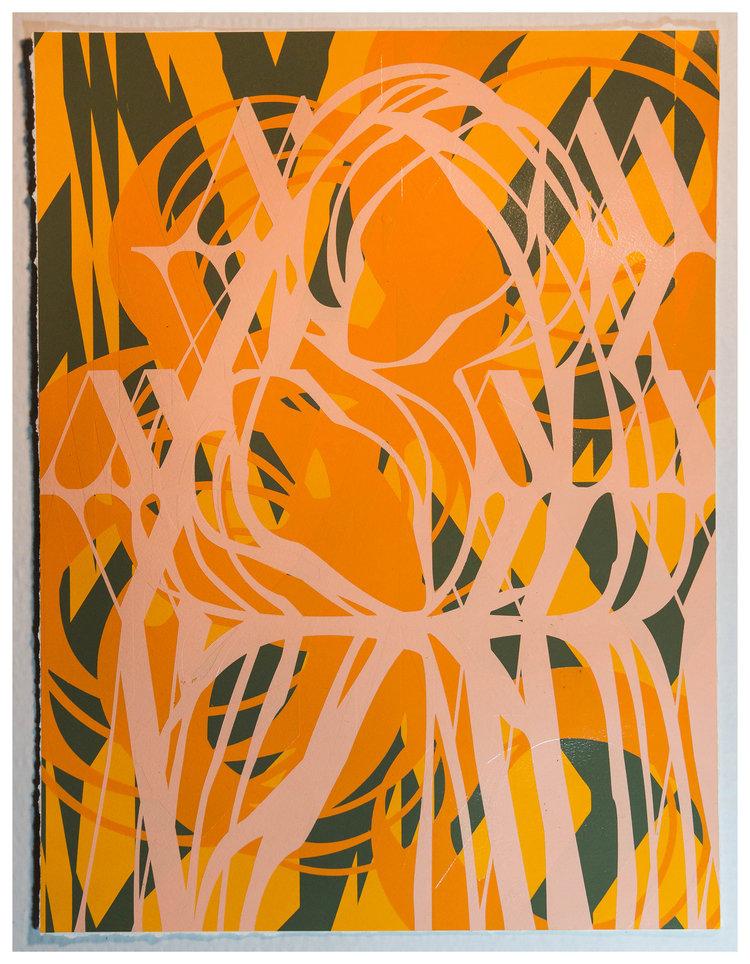Aerosol on Strathmore 400 Watercolor Paper 23 x 17 inches $300 Inquire
