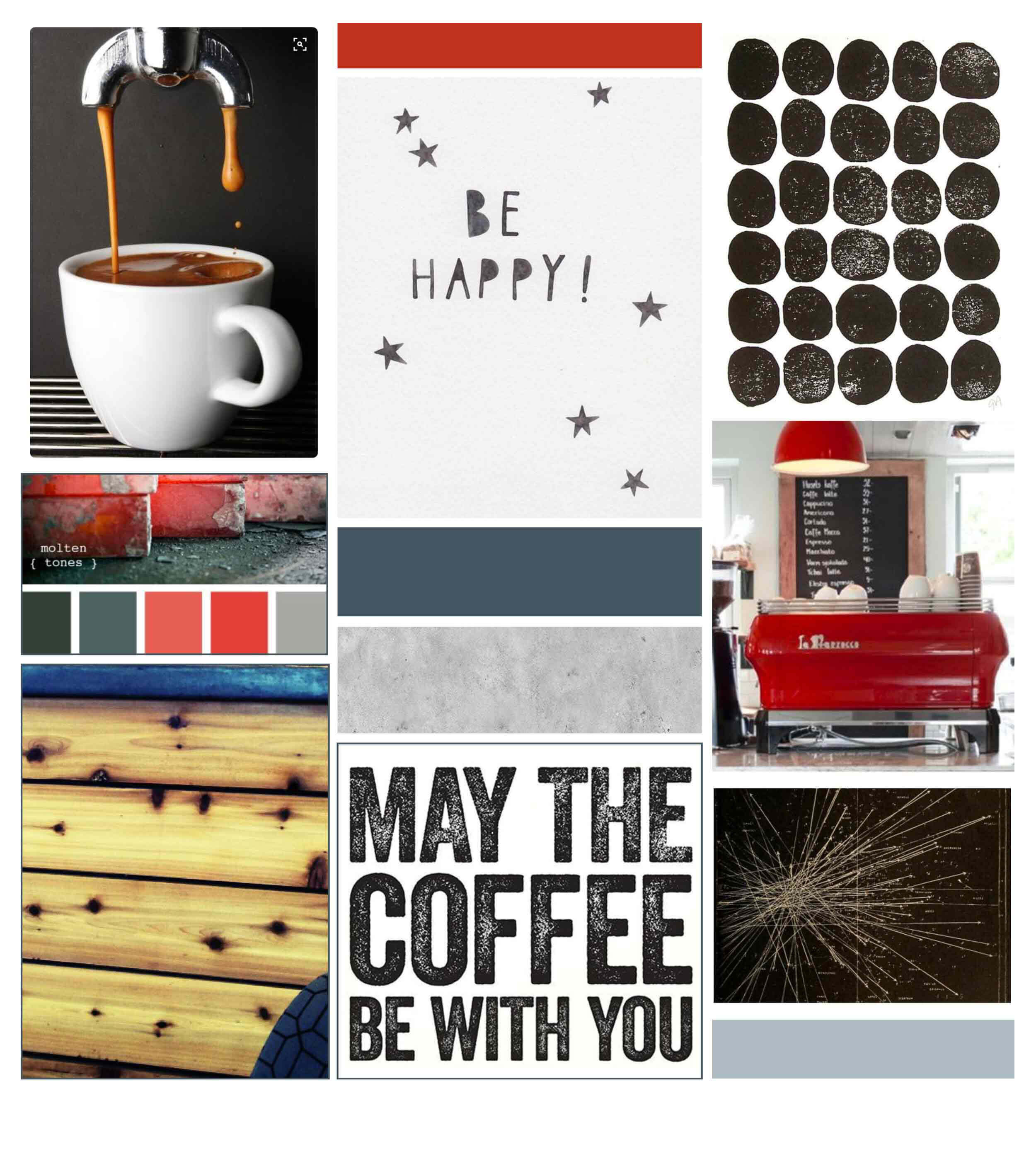 The Blend Inspiration Board by The Qurious Effect. Brand and Squarespace web designer