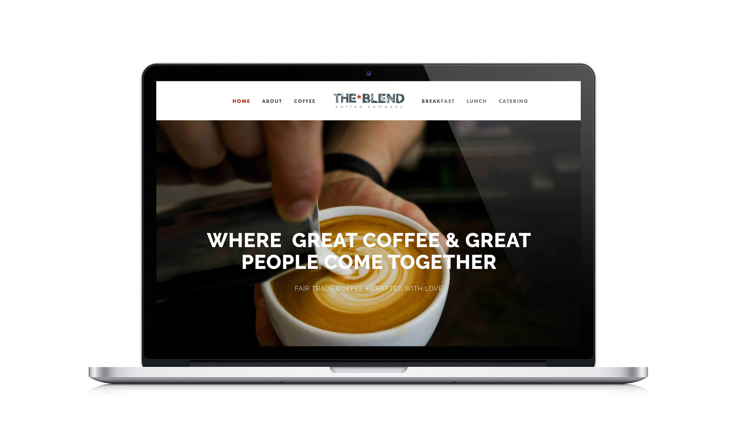The Blend Squarespace site design by The Qurious Effect