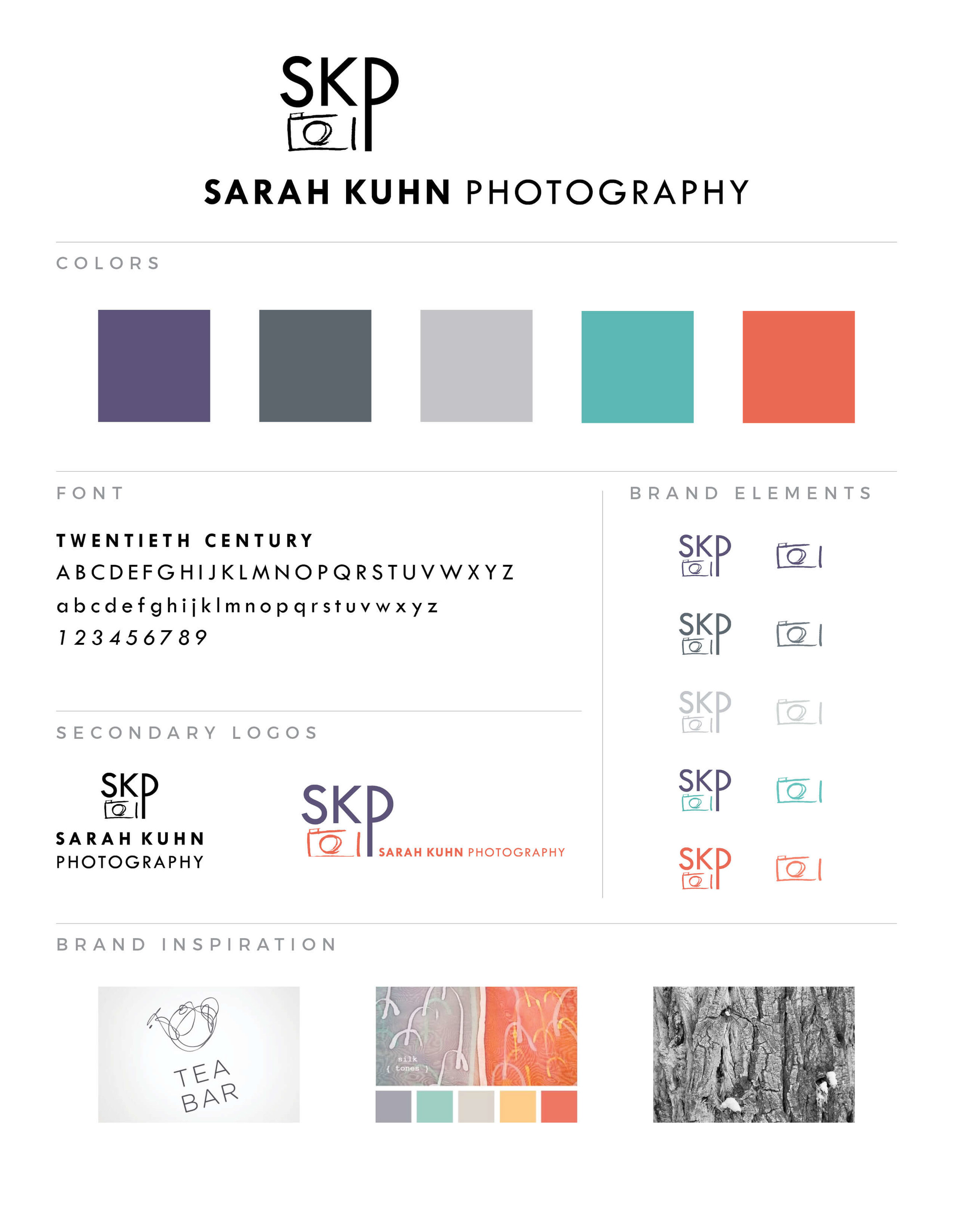 Sarah Kuhn Photography identity design by The Qurious Effect, a brand and Squarespace web design company