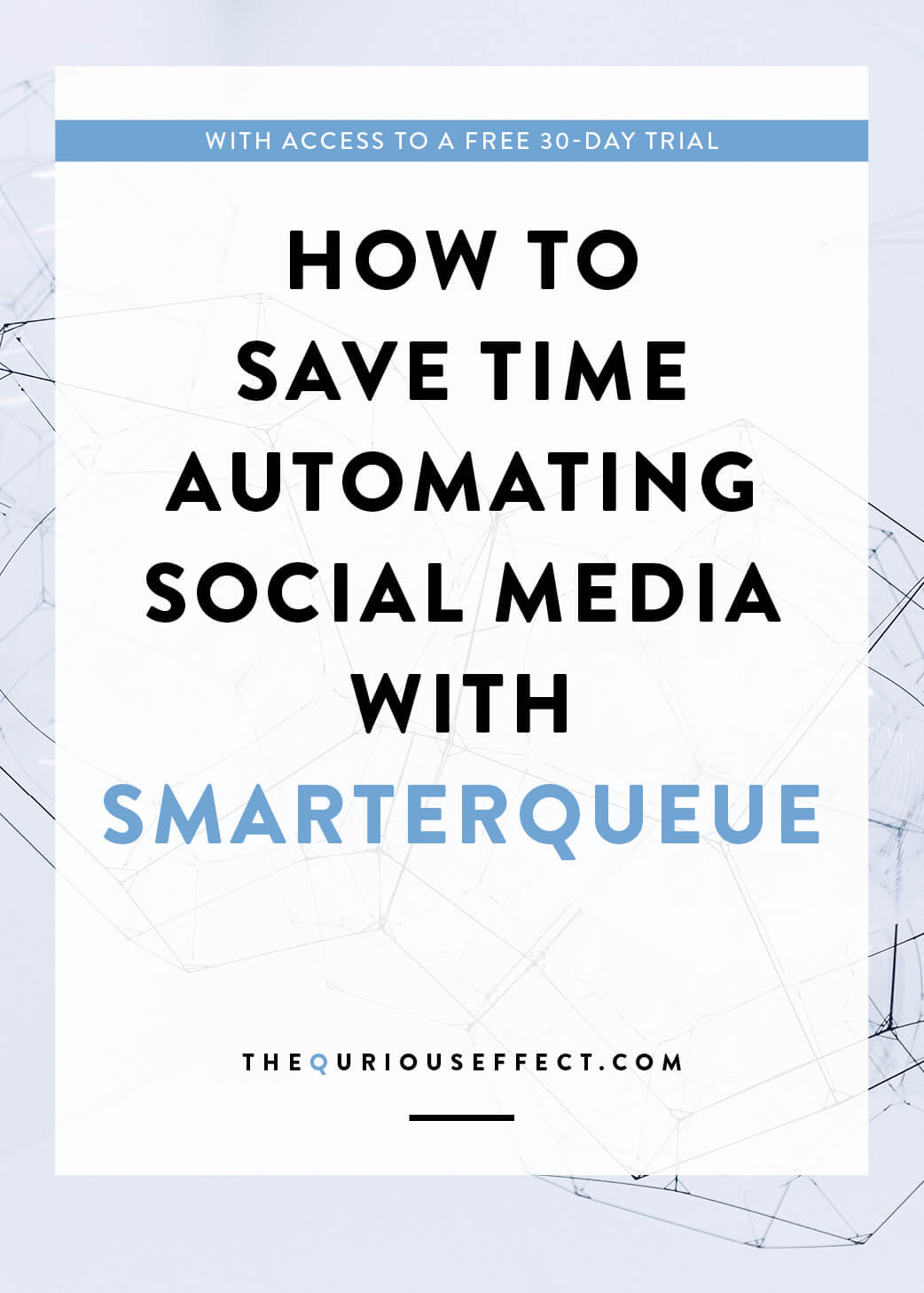 How to save time automating social media with SmarterQueue by The Qurious Effect, a brand and squarespace web designer