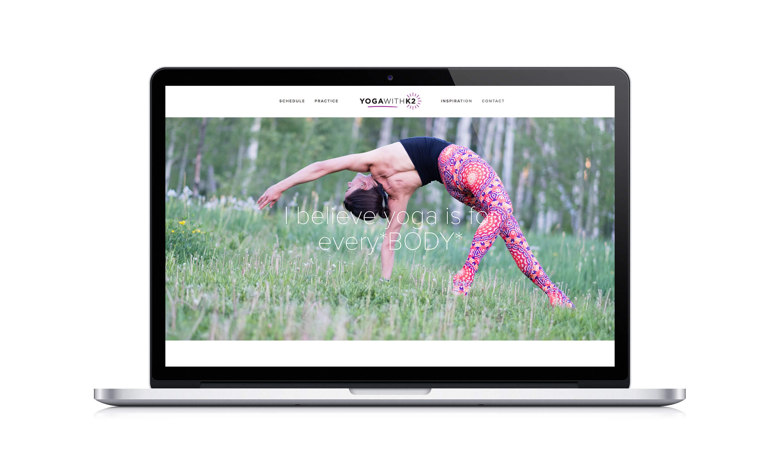 Yoga with K2 Squarespace Website Design by The Qurious Effect