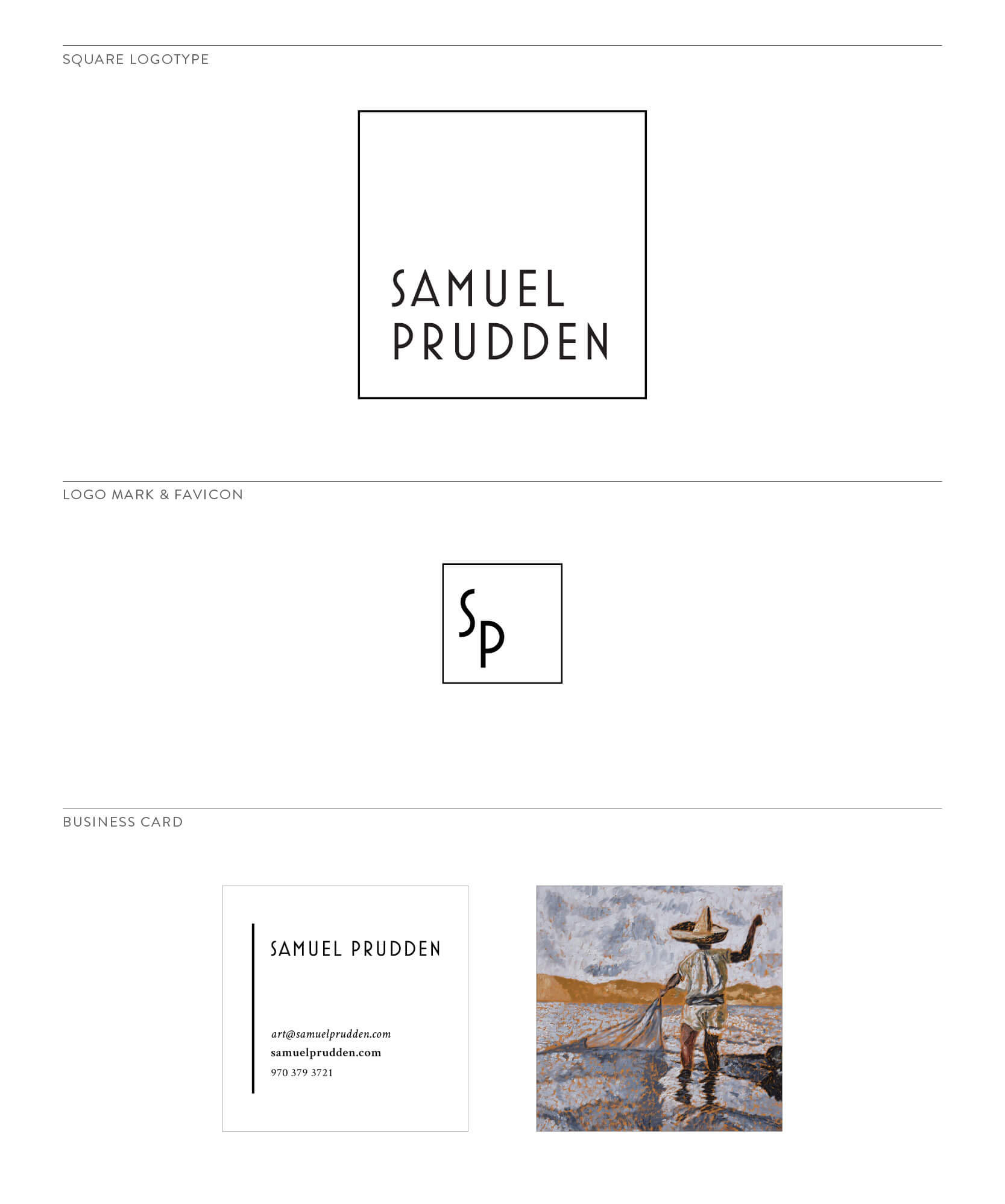 Samuel Prudden Secondary Logo and Mark by The Qurious Effect. A brand and Squarespace web design studio.