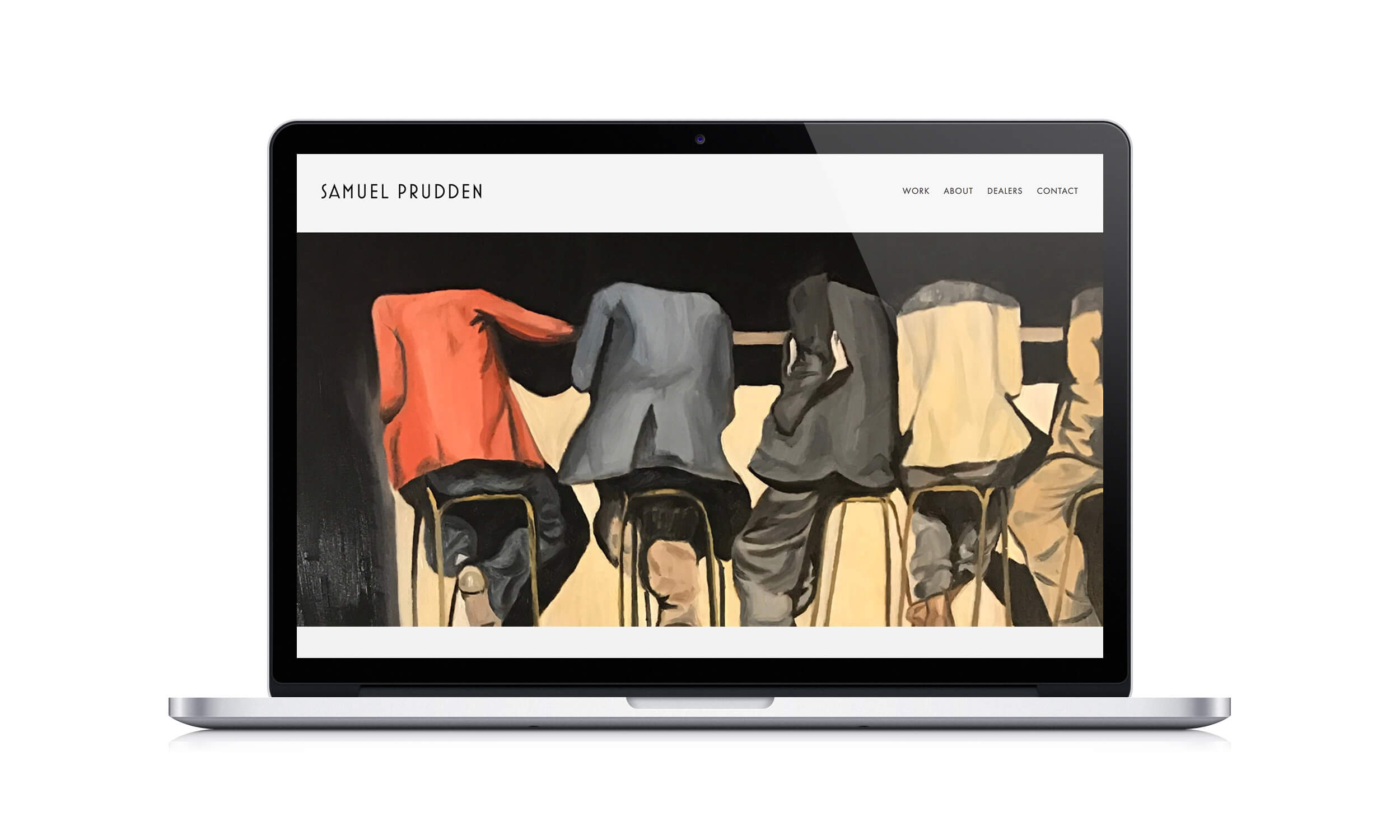 Samuel Prudden Squarespace Website Design by The Qurious Effect