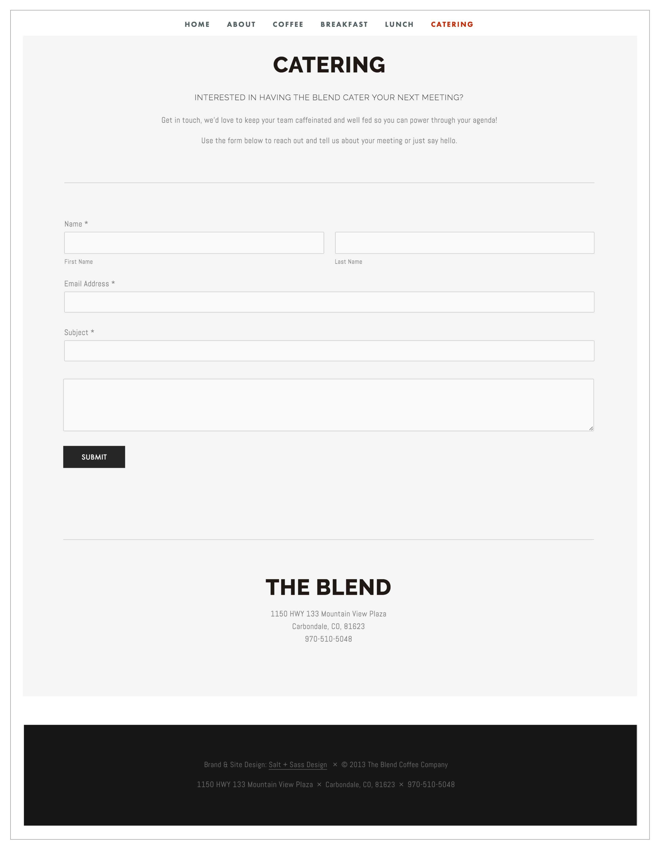 The Blend Squarespace website by The Qurious Effect