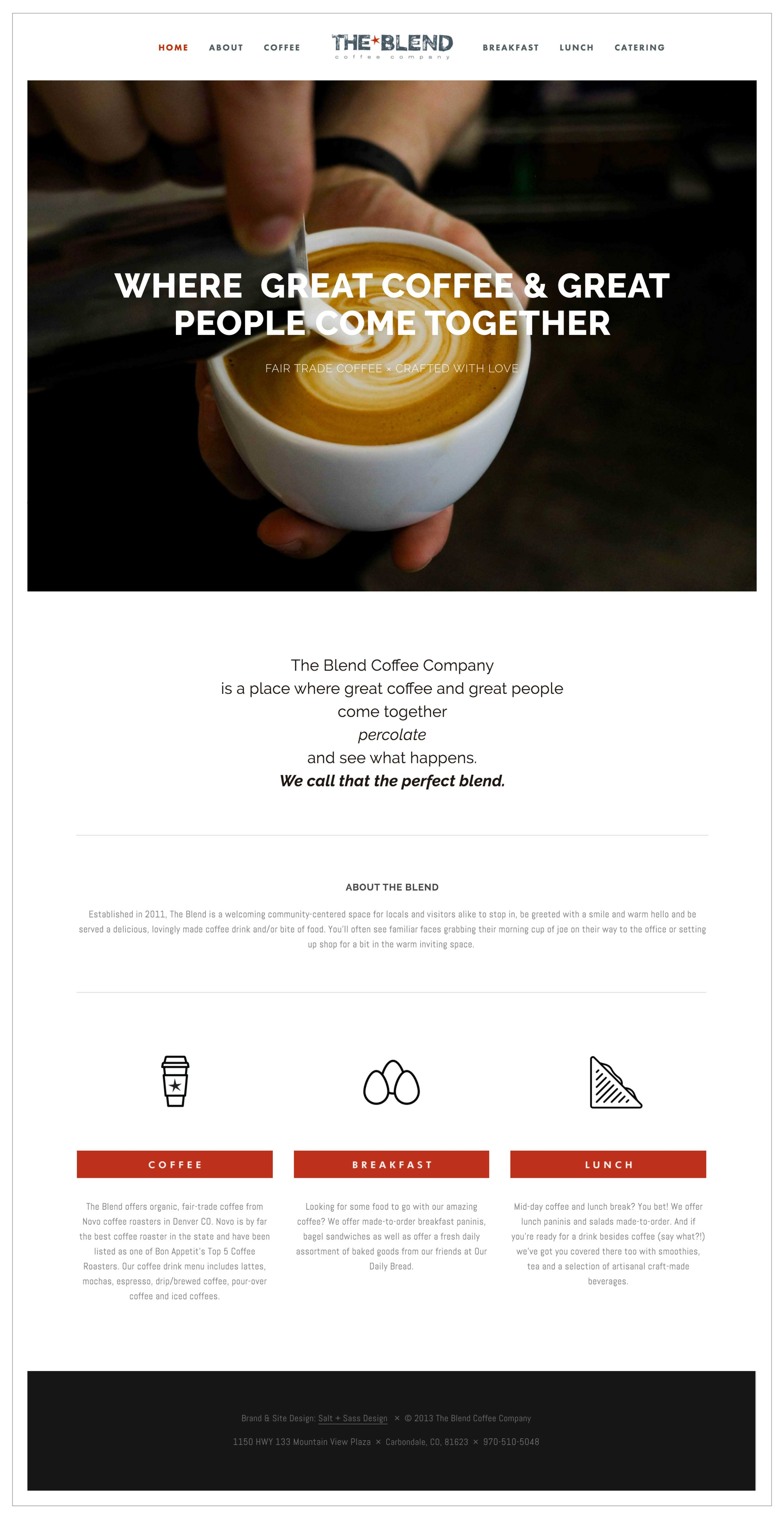 The Blend Squarespace Website Design by The Qurious Effect