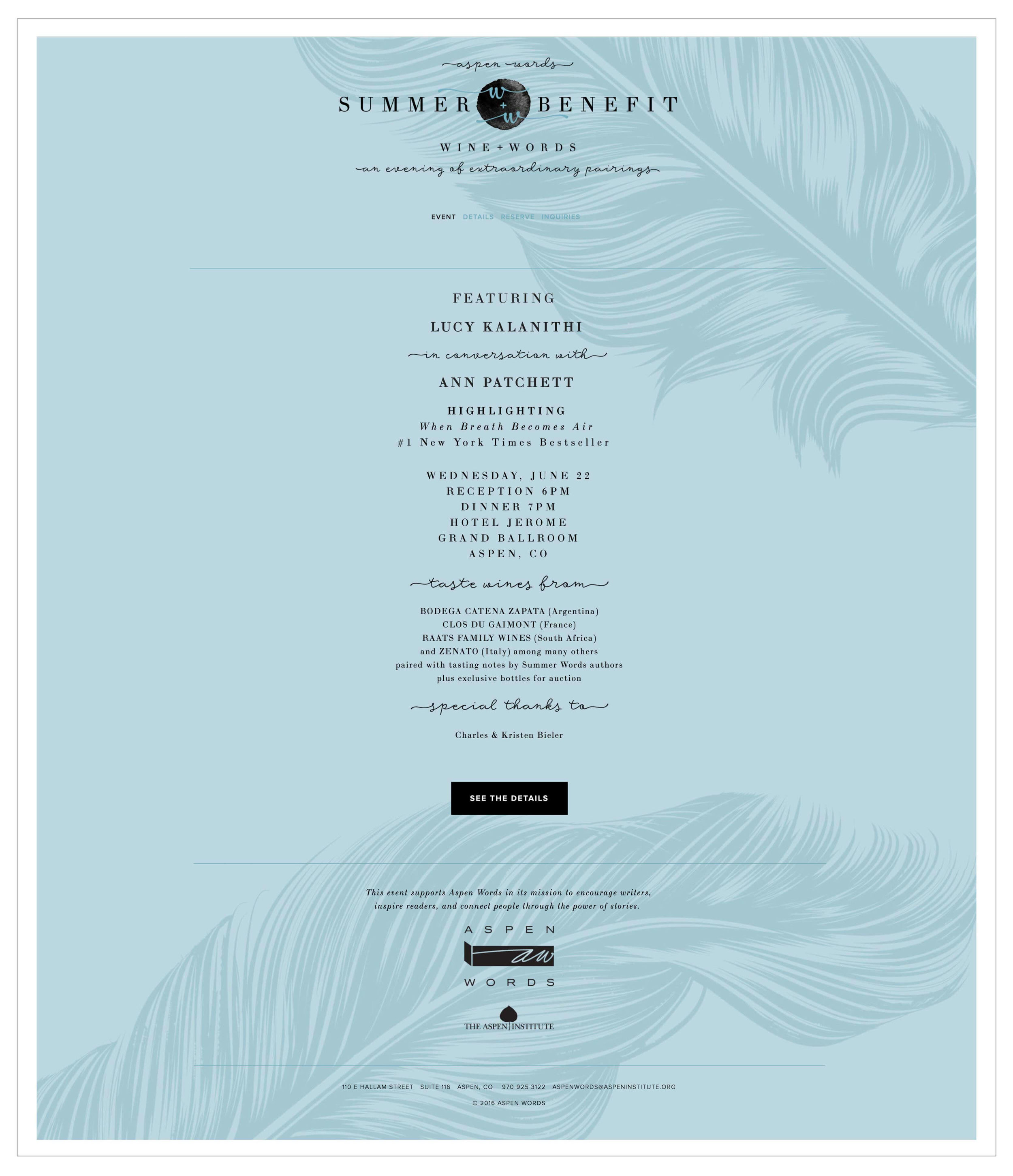Summer Benefit Squarespace web design by The Qurious Effect