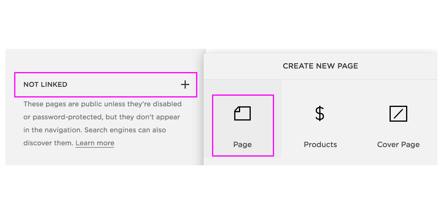 Image of Adding a page for creating a linktree alternative on your Squarespace website. By The Qurious Effect, Squarespace web designer.