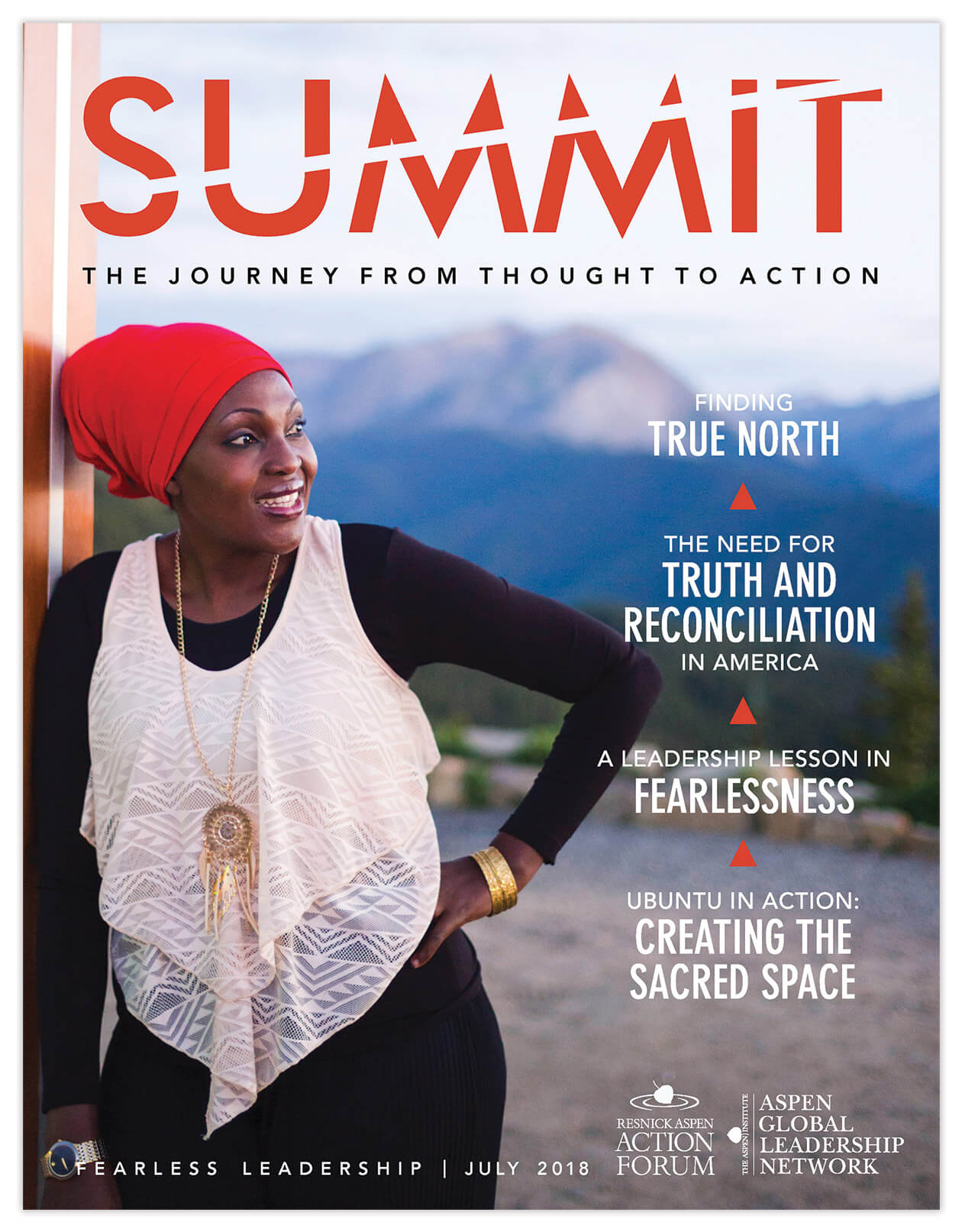 Resnick Aspen Action Forum Summit Magazine Cover | Magazine Design by the Qurious Effect