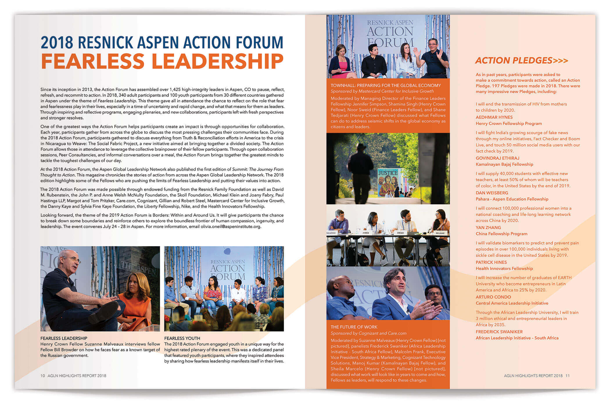 Aspen Global Leadership Network Annual Report pages 10-11 | Nonprofit Annual Report Design by The Qurious Effect.