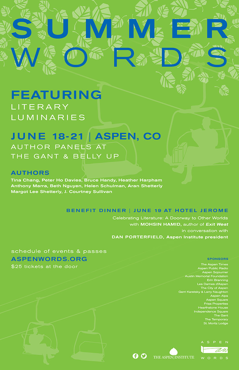 Aspen Words Summer Words Poster | Event Collateral Design by The Qurious Effect.