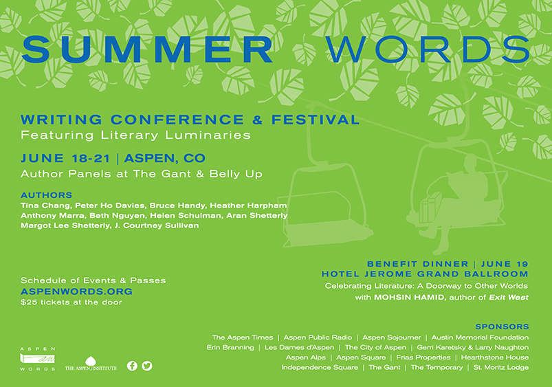 Aspen Words Summer Words Newspaper Advertising | Event Collateral Design by The Qurious Effect.
