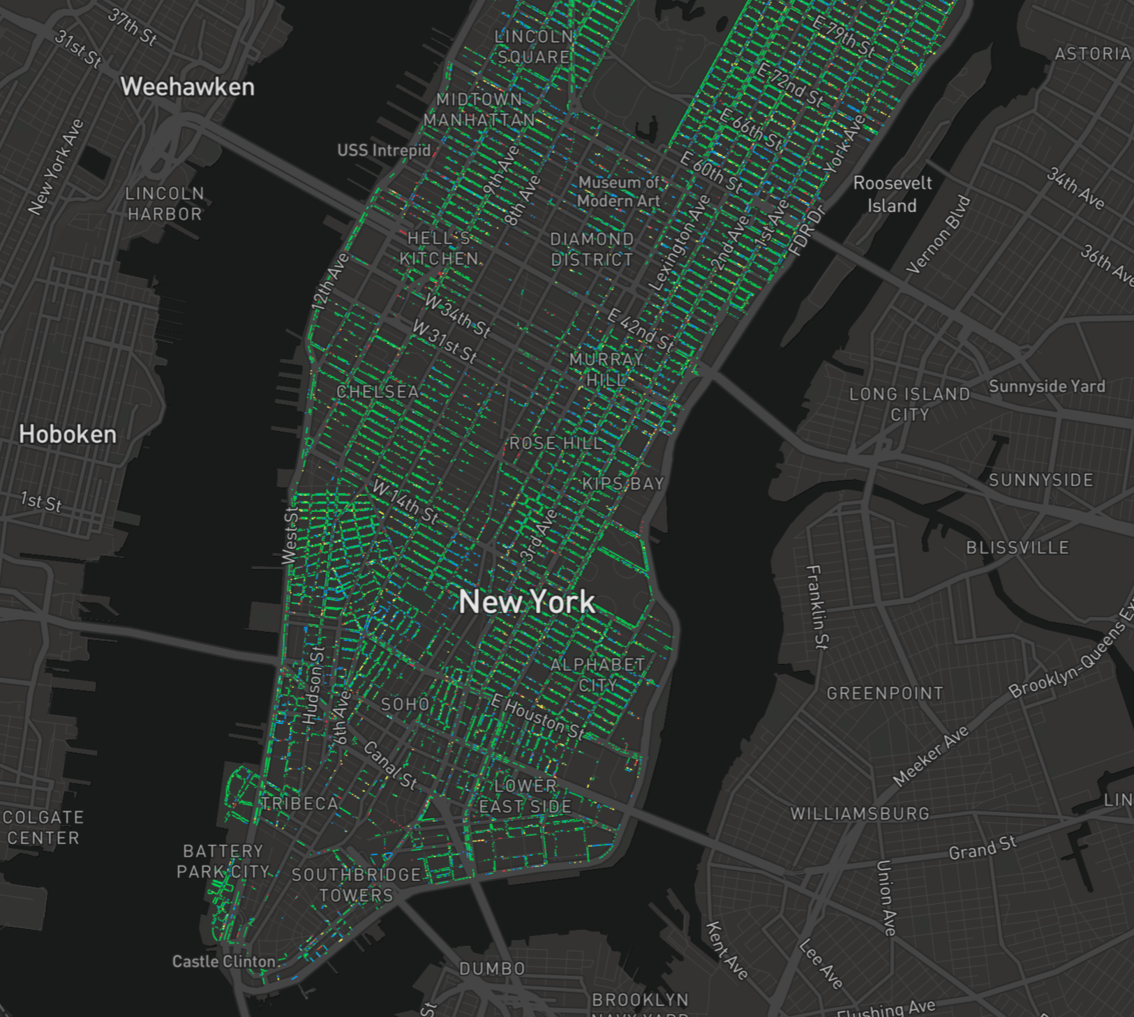 My inspired viz - mapping the health of NYC trees!