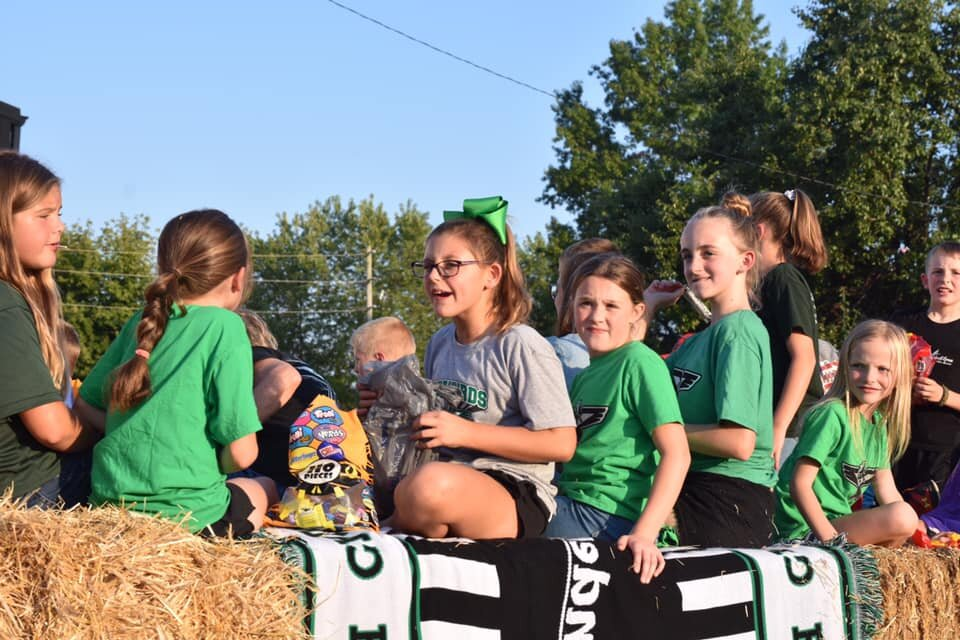 KFJ float at the 2019 North Callaway Homecoming Parade. Go T-Birds!