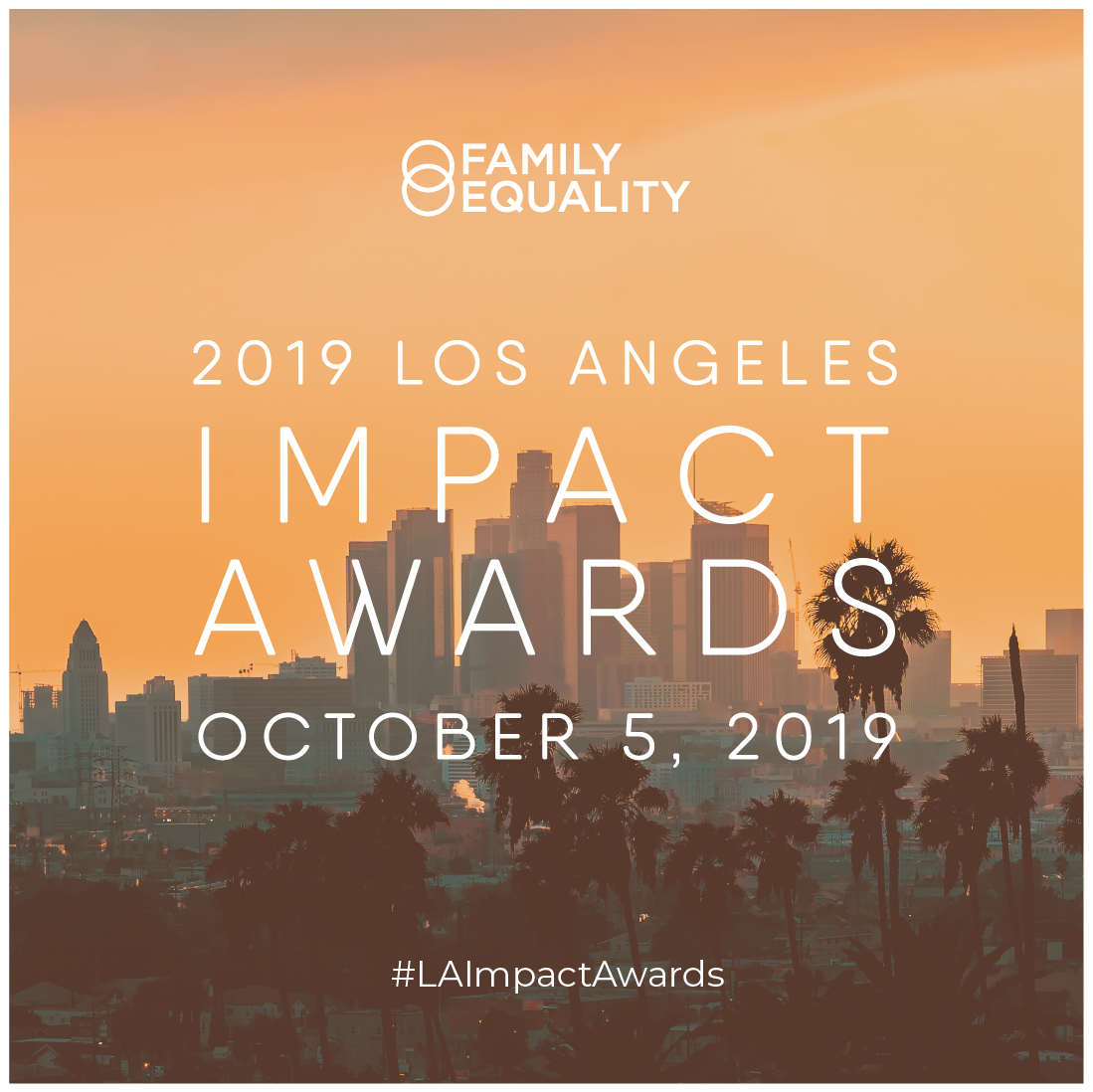 Sample caption: It's not everyday that #LGBTQ families and youth get the respect and recognition they deserve. At  @familyequality 's #LAImpactAwards, we're making sure they do. laimpactawards.com