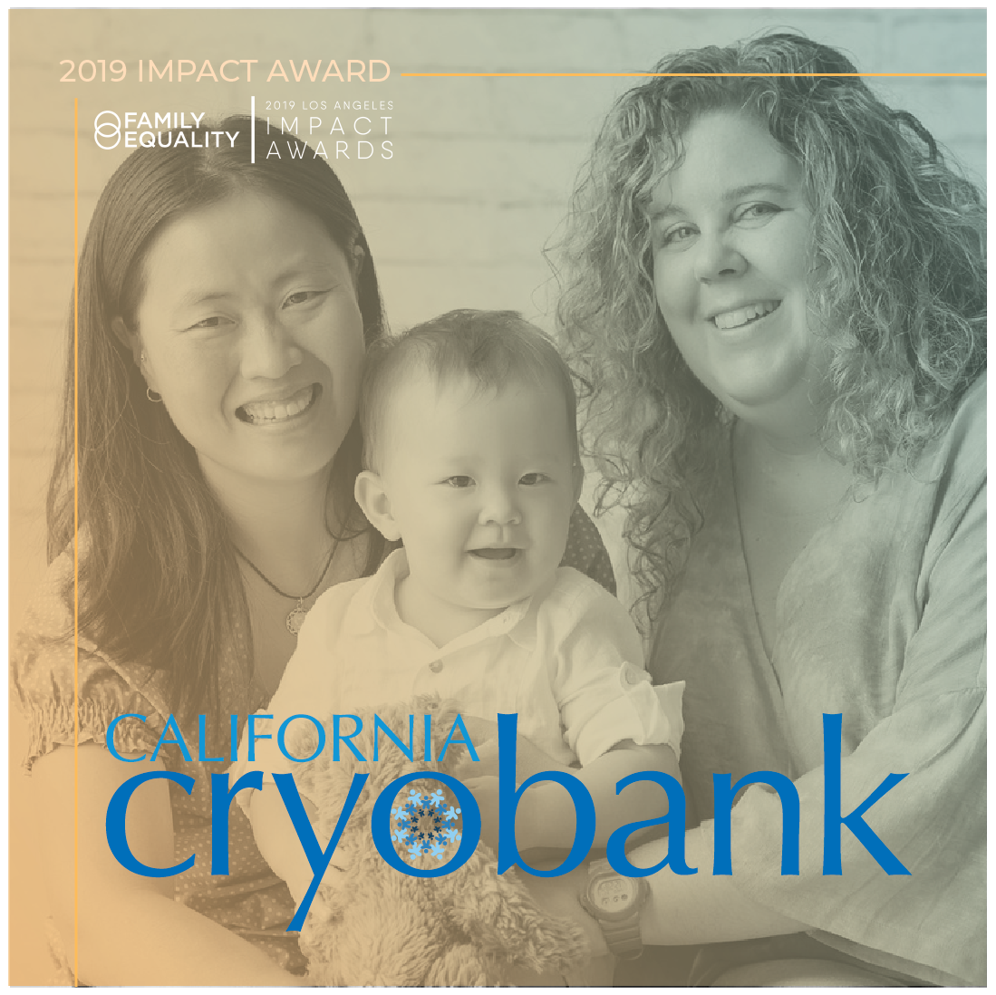 Sample caption: California Cryobank has been supporting #LGBTQ families since before it was cool. And I get to join  @  familyequality  in celebrating them at the #LAImpactAwards. laimpactawards.com