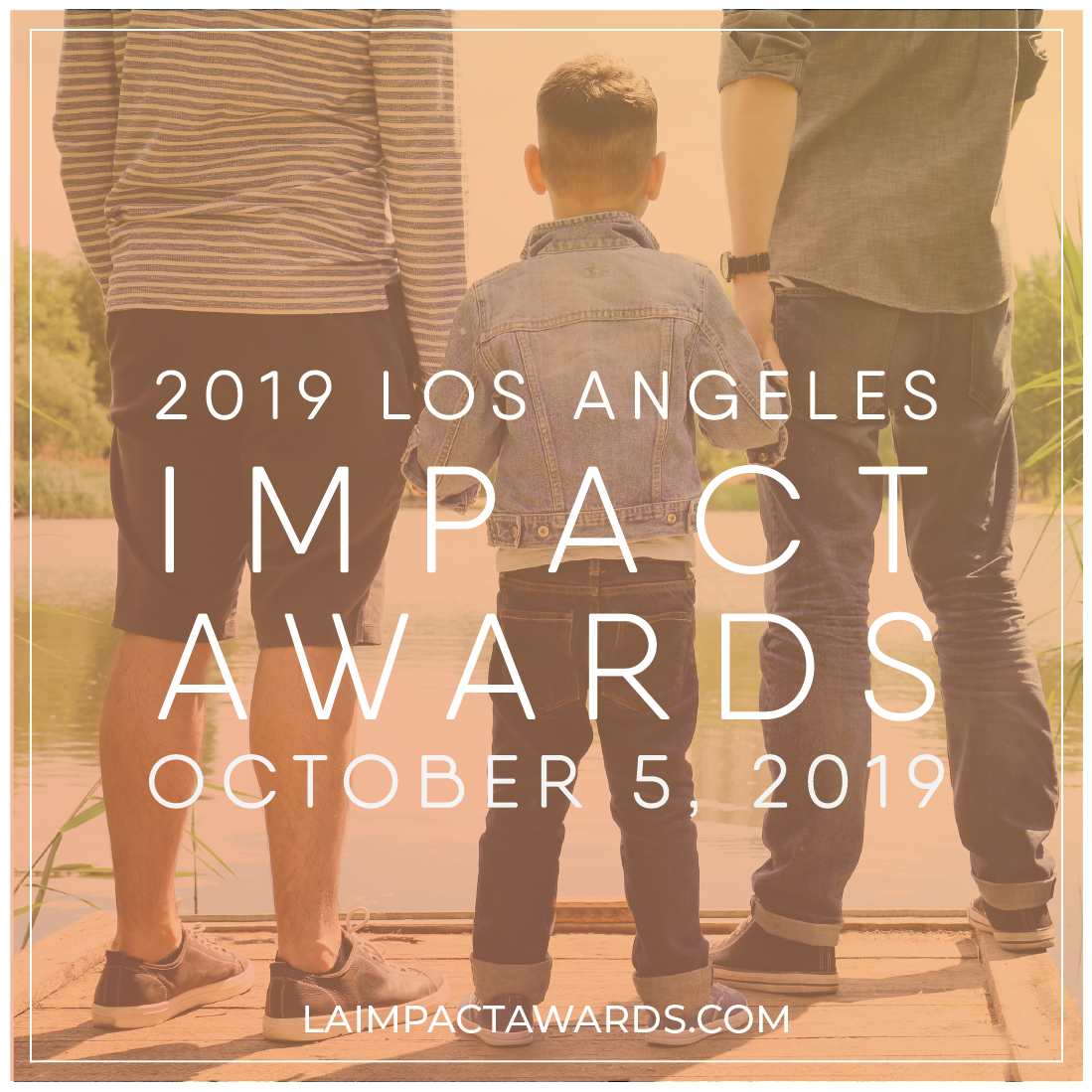 Sample caption: Love unites us, bonds us, and MAKES us. On October 5th, we get to celebrate it with  @familyequality 's #LAImpactAwards. laimpactawards.com