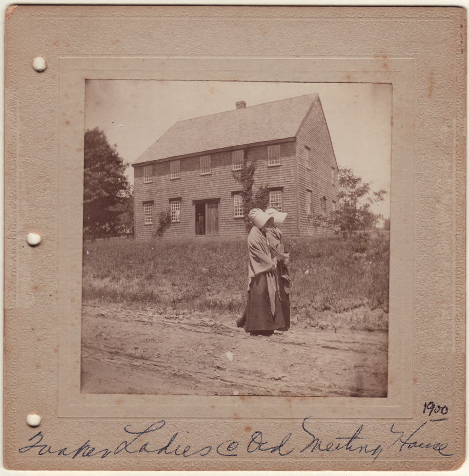 Quaker women at Meeting House