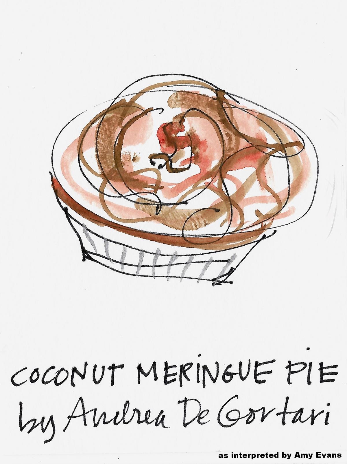 COCONUT MERINGUE PIE drawing by Amy C Evans.jpg