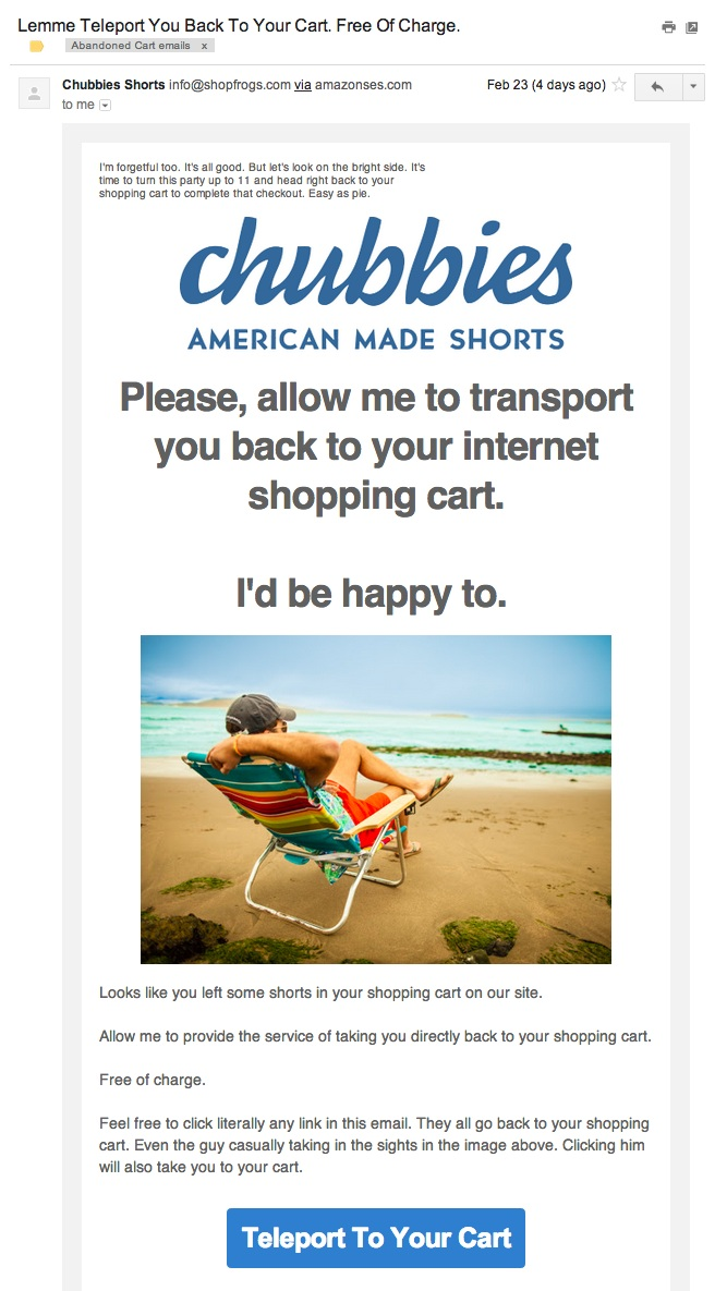 abandoned+cart+email