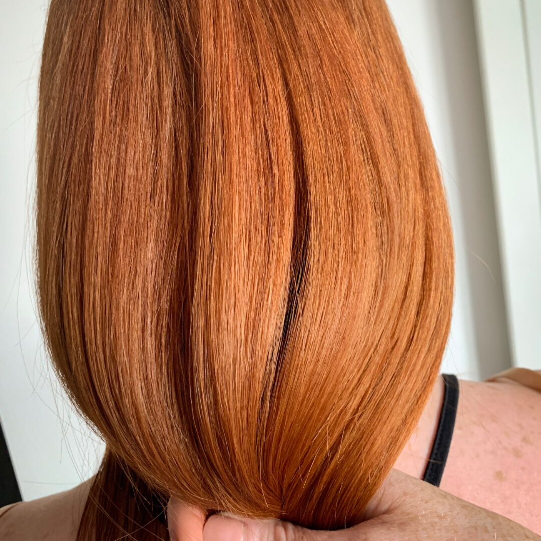 Client's at home blow dry - Hair is manageable and shines, even with a quick rough blow dry. Enjoy for 100 days and more…