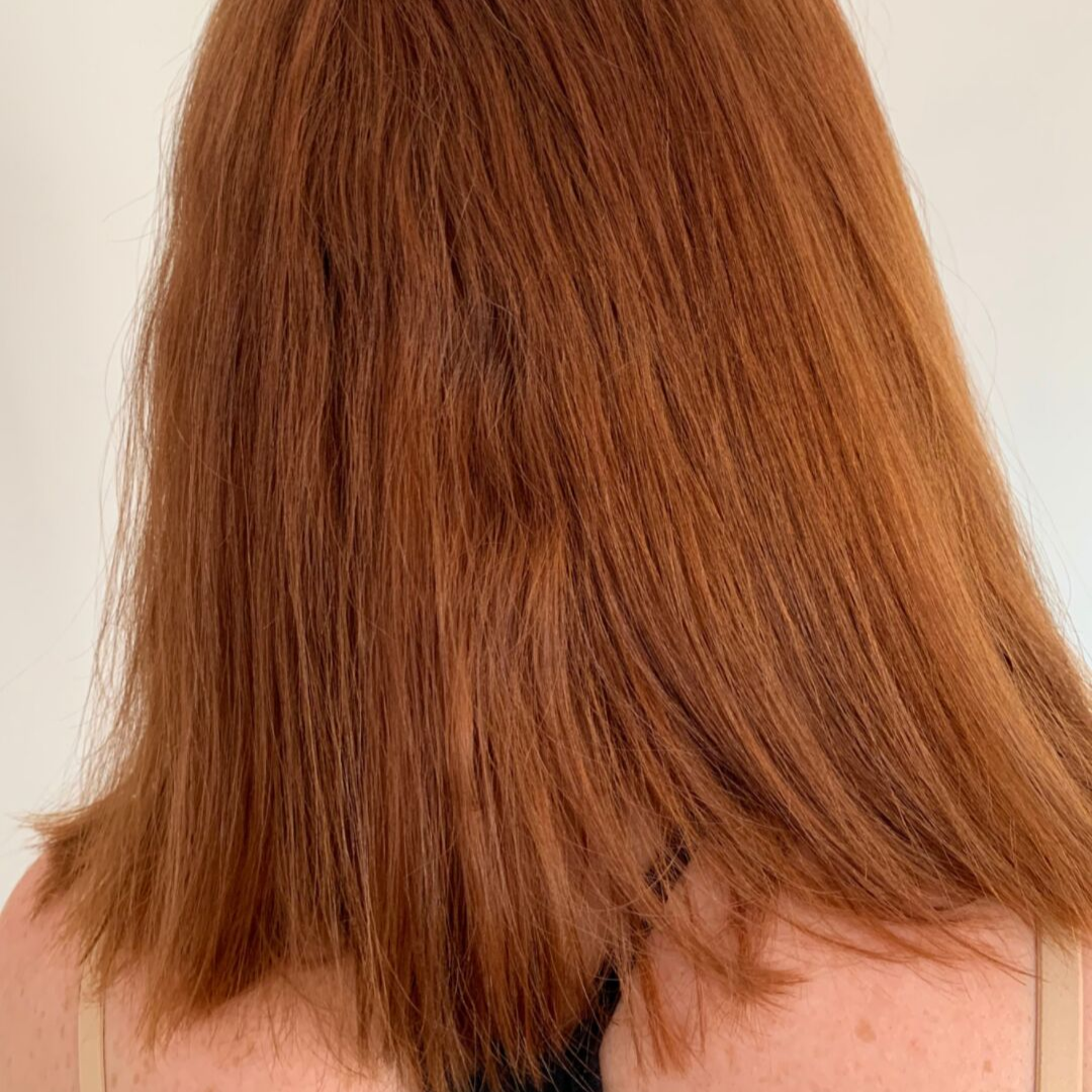 Before - Hair is frizzy, unruly and hard to style.