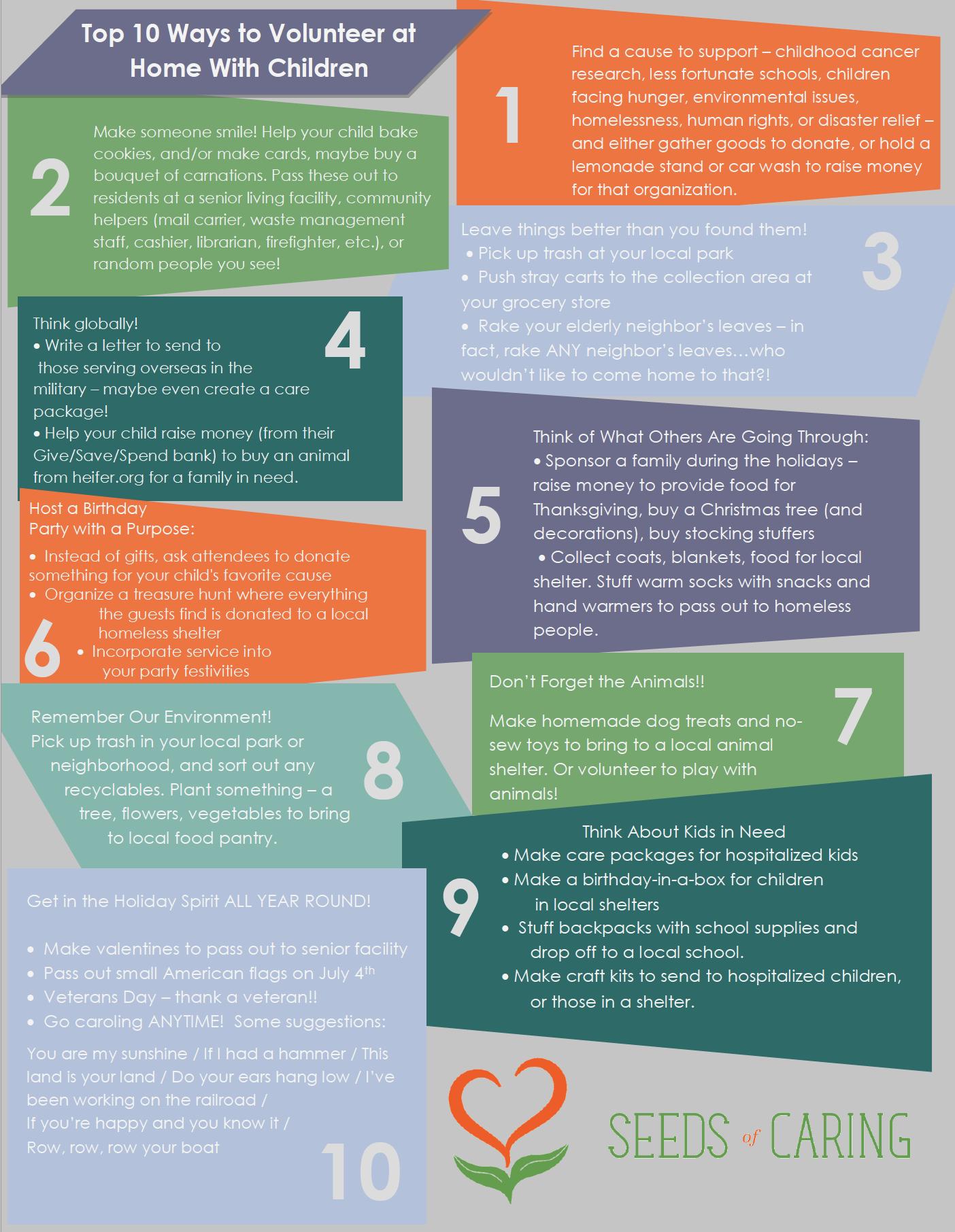 10 Ways to Volunteer at Home