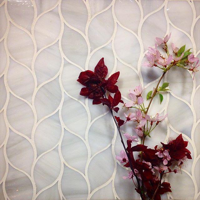 Laurels with fresh Cherry Blossom