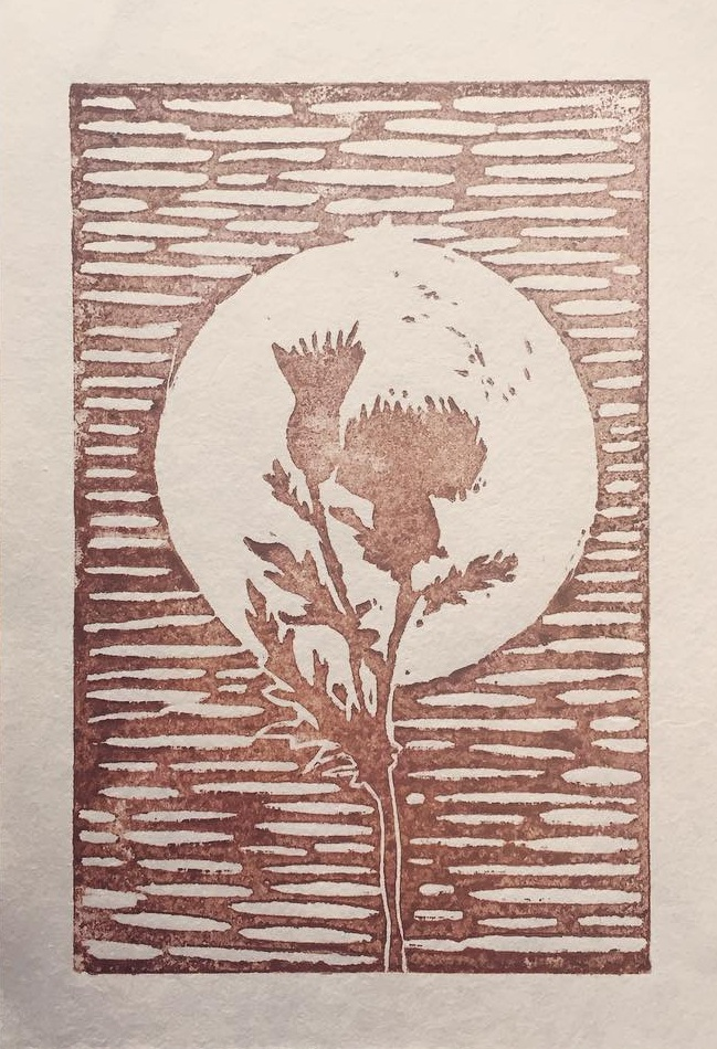 Moon Thistle print by Lillie