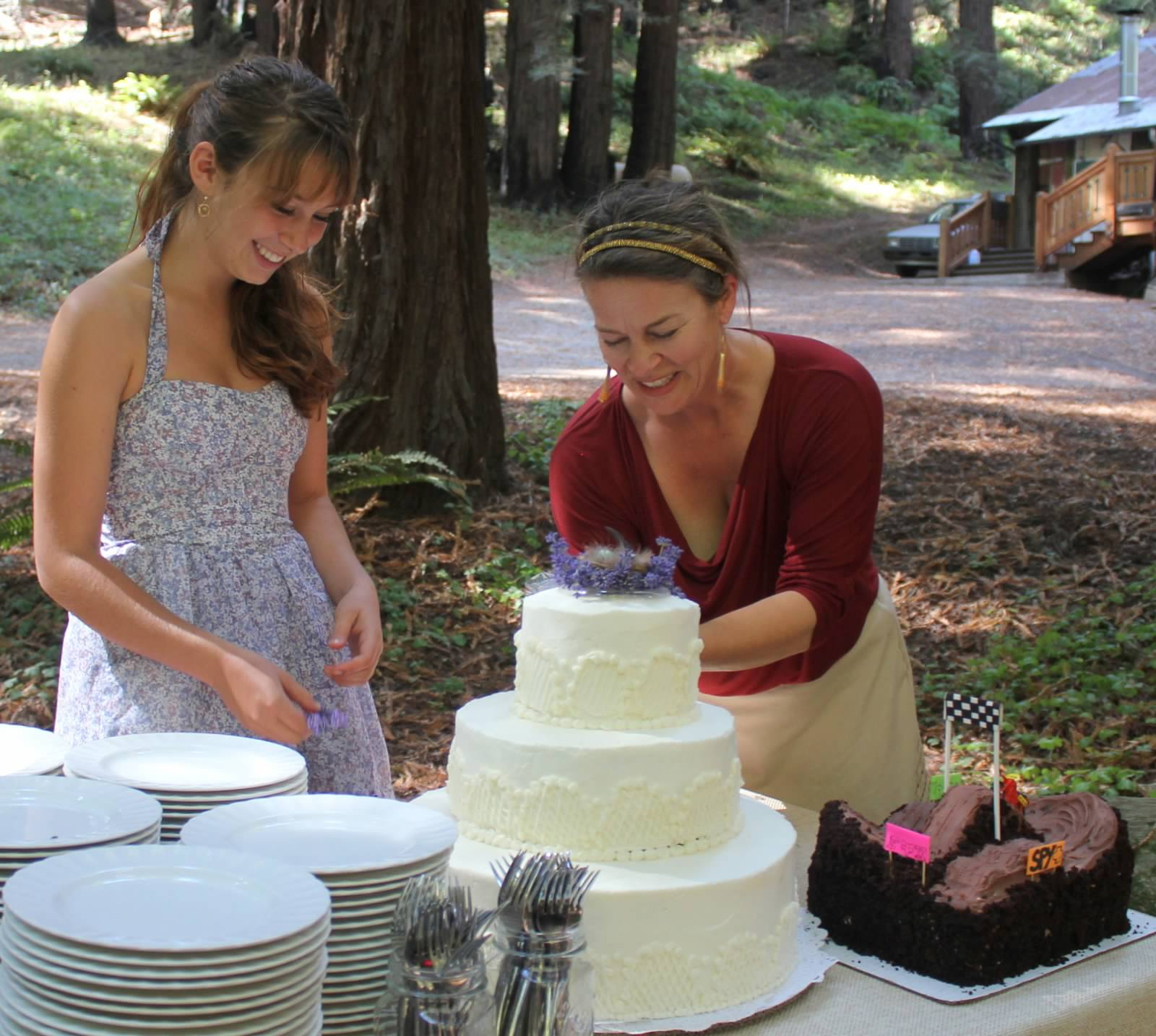 Carren & daughter Hannah - Every great Laughing Canyon celebration includes cake!