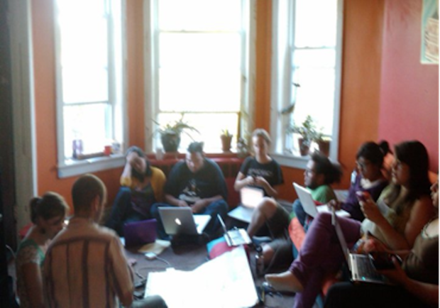 (The only picture from the Chicago retreat, blurry from my phone)