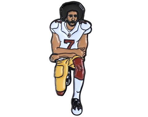 You too can get a Kaepernick pin or patch from the amazing folks at  Radical Dreams .