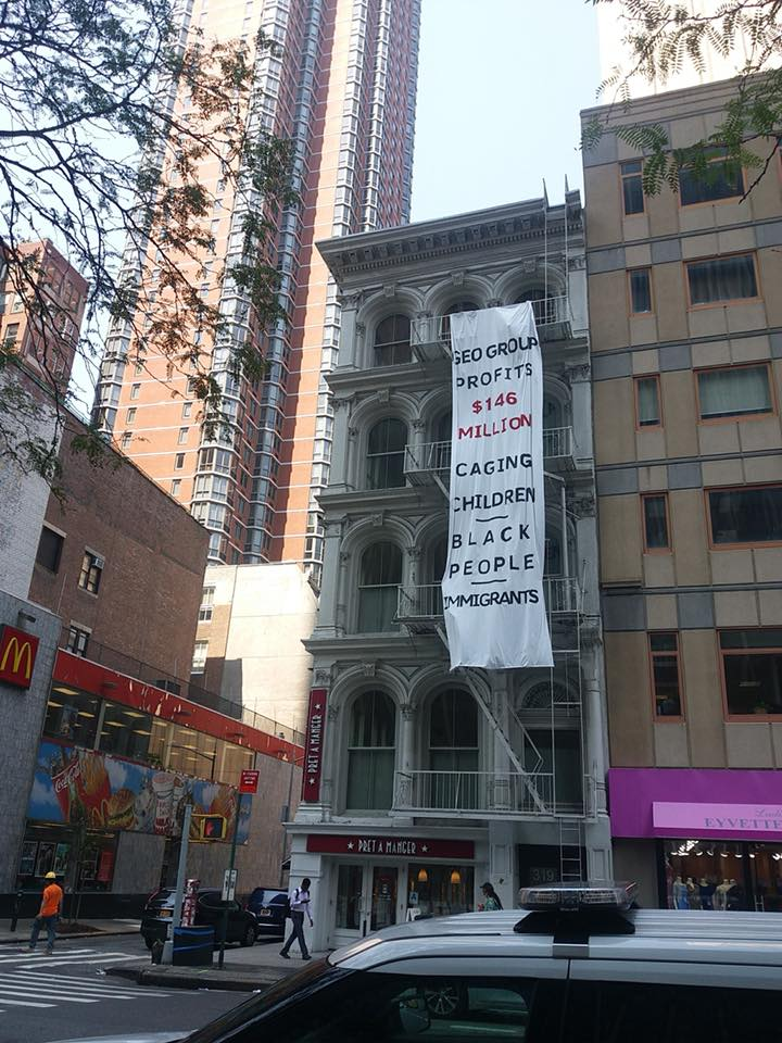 NYC Banner drop. Photo credit: Jillian White