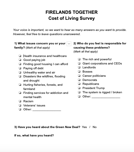Photo of the survey