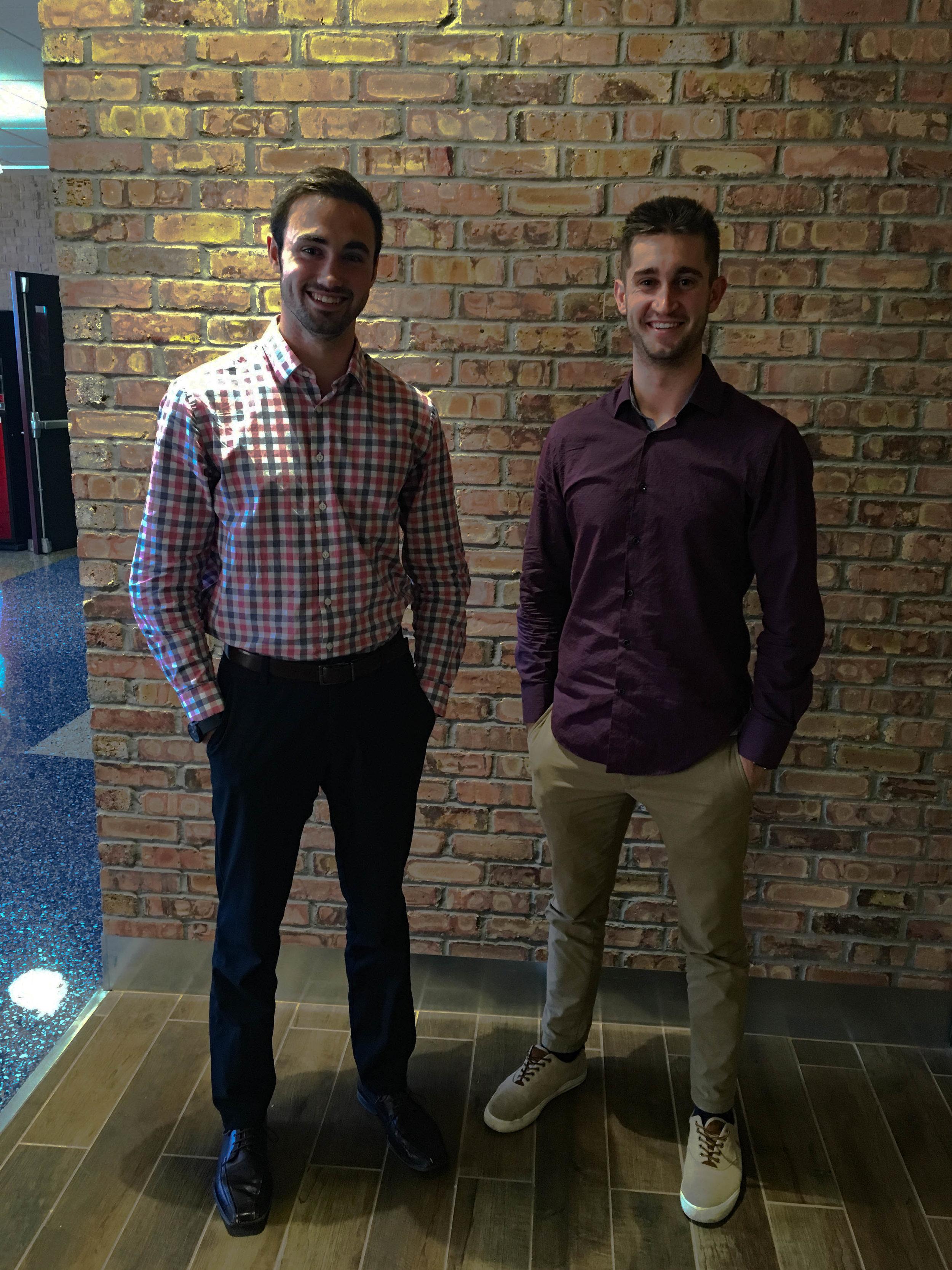 Seniors Brandon Colucci and Andrew Achter