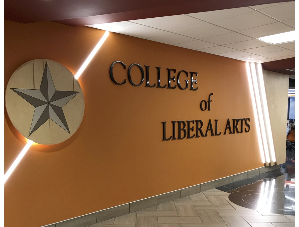 First floor College of Liberal Arts. Photo Courtesy by Cassidy Johnson.