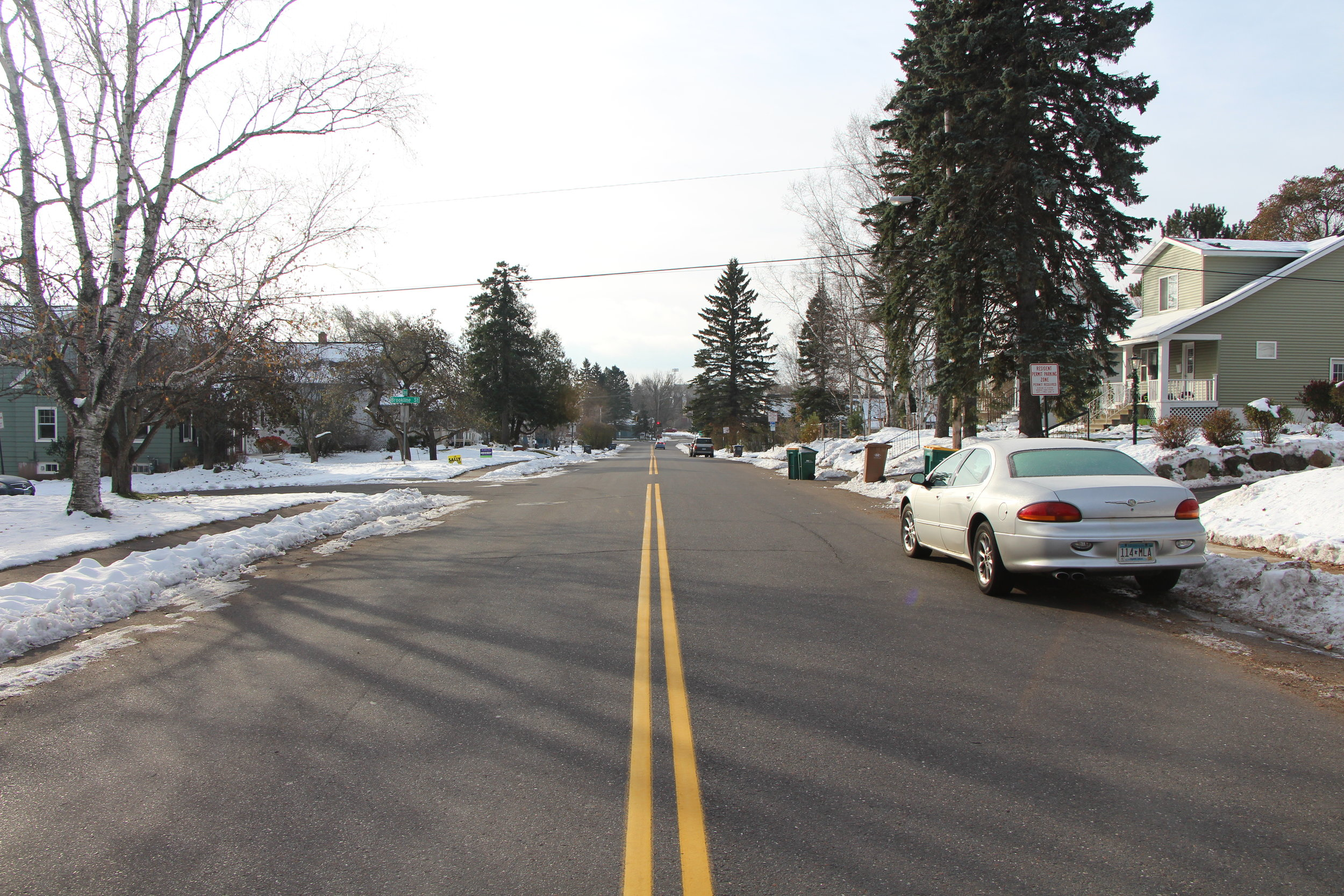 Carver Ave.is lined by various student rental properties mixed with residential homeowners. Photo courtesy of Conor Shea