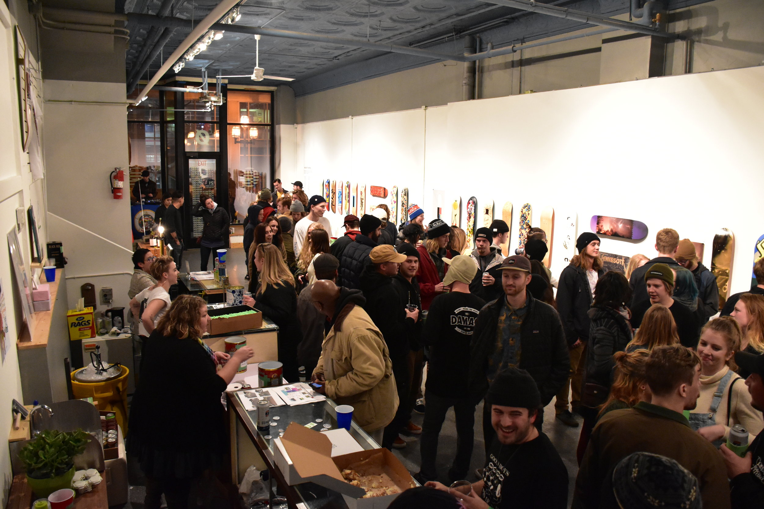 Opening night at The Prove Gallery  -Photo by Alex Ganeev