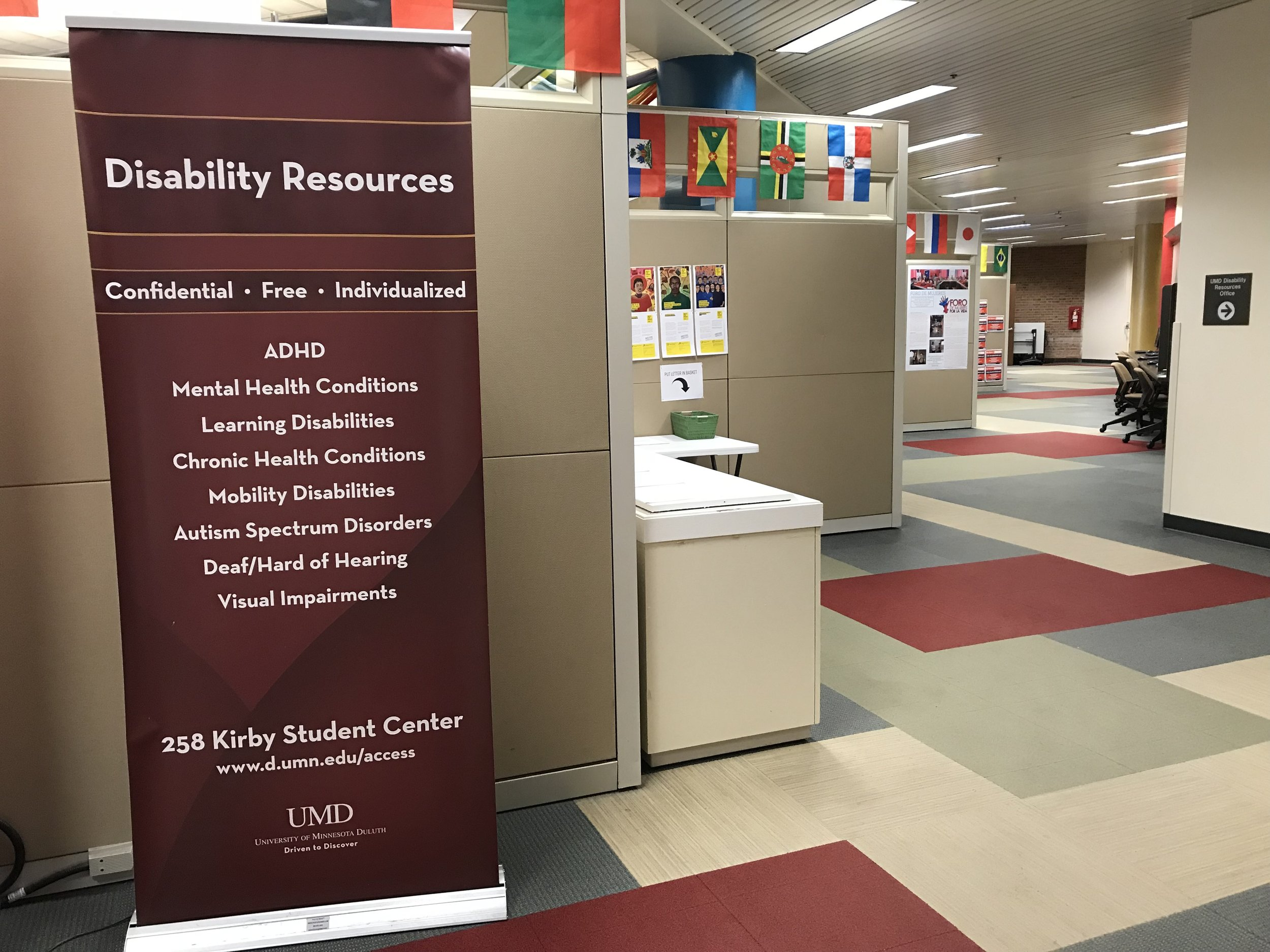 The Disability Resources Office offers help and services to a wide range of students. Photo courtsey of Cate Tanner