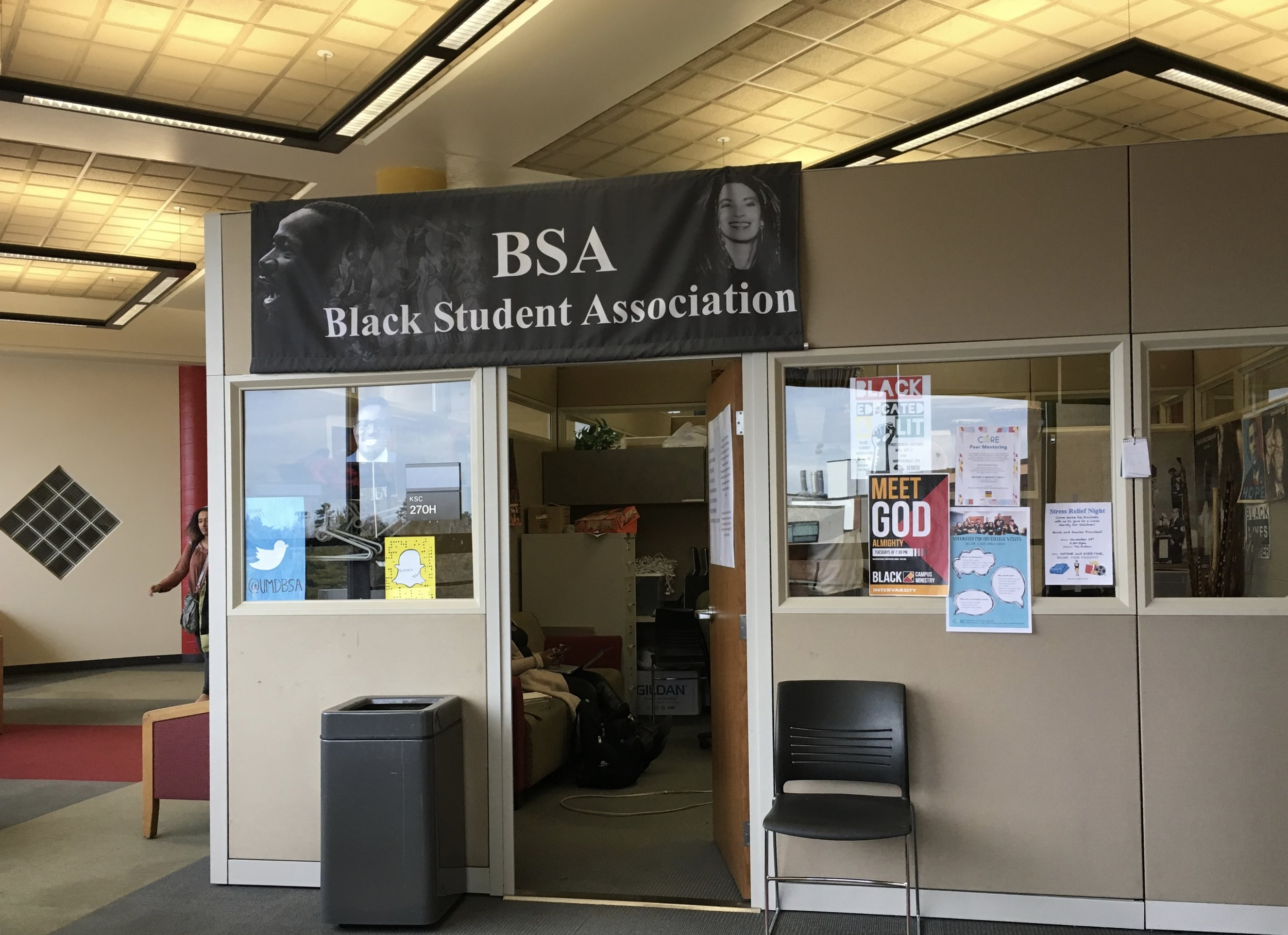 The exterior of the BSA cube in the Multicultural Center at UMD. Photo courtesy of Hannah Cornish