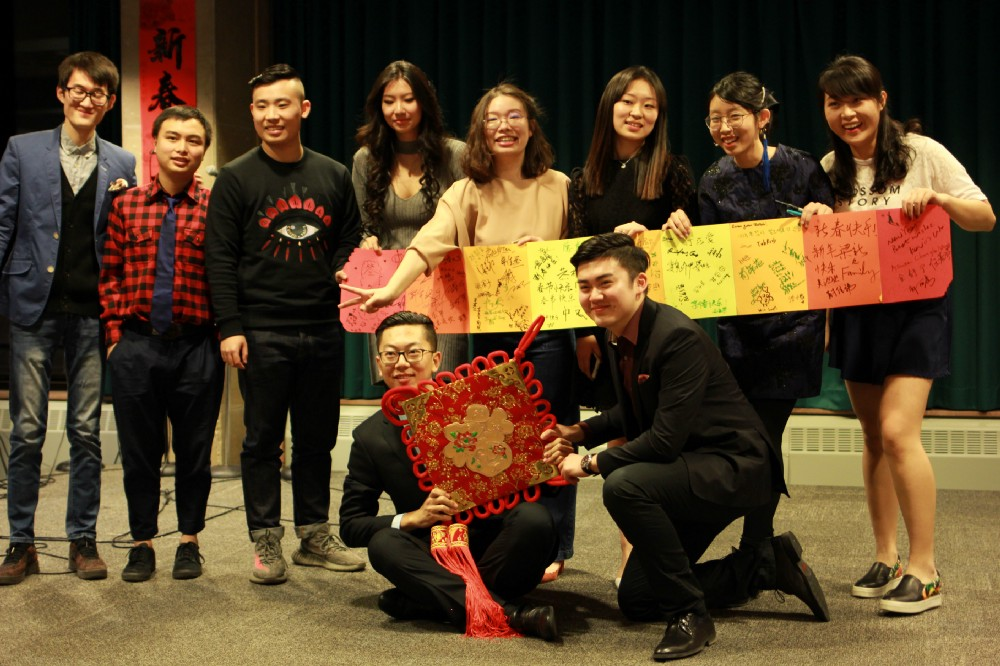 Josh, bottom left, at a Chinese Student and Scholars Event last school year. Photo courtesy of CSSA.