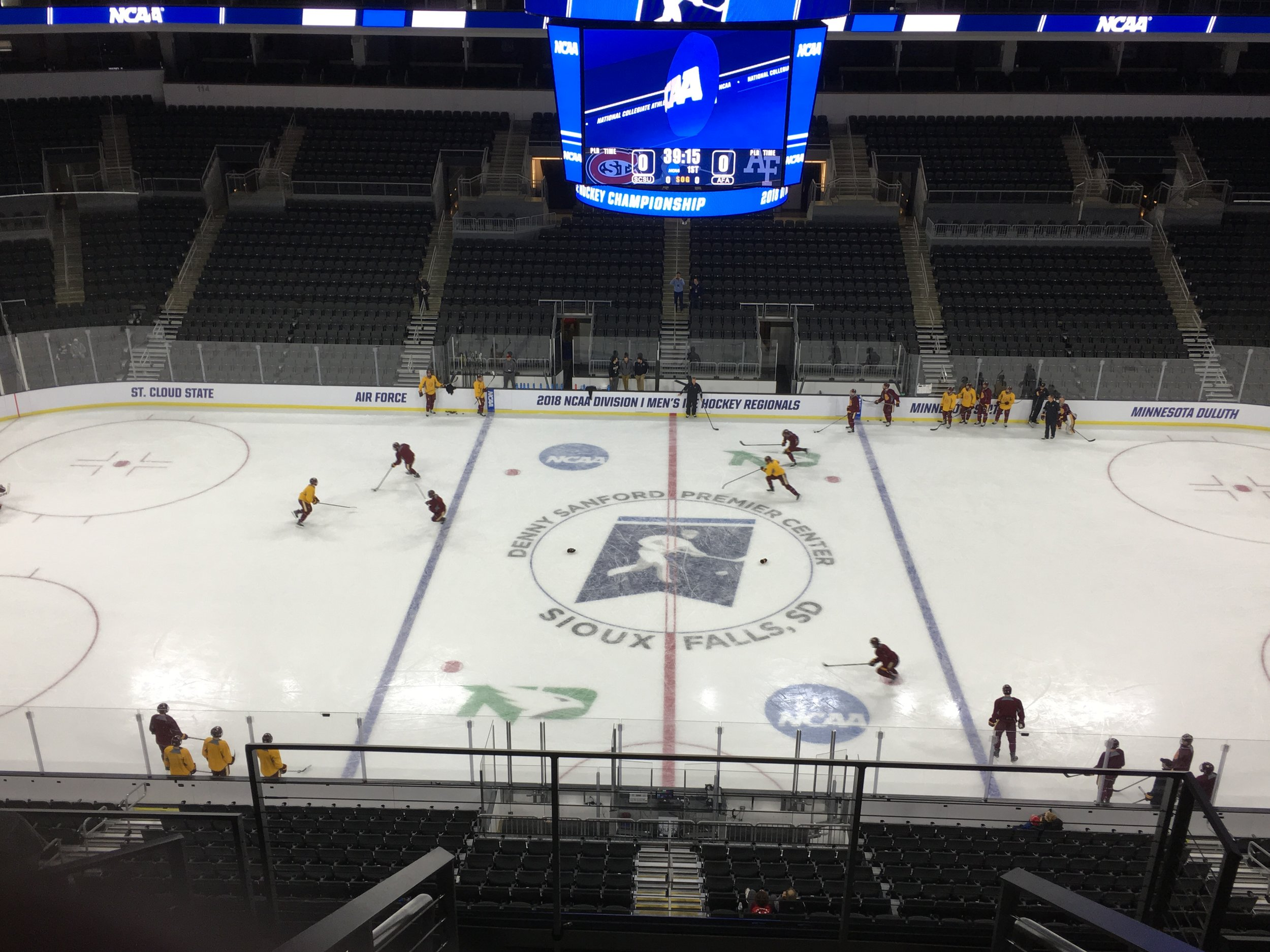 Bulldogs practice before Friday night's battle with Minnesota State. Photo from Austin Rush