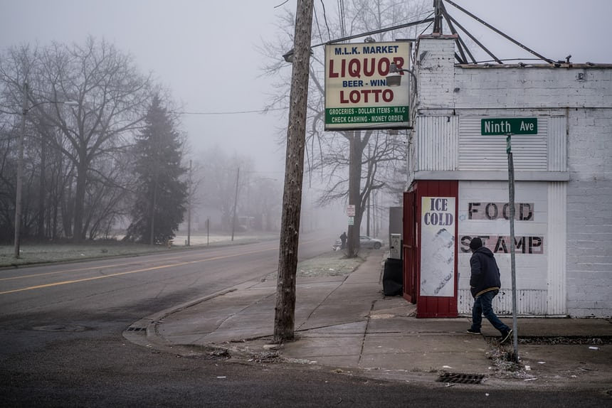 A glimpse of Flint on a cold, dreary afternoon Photo by: Zackary Canepari