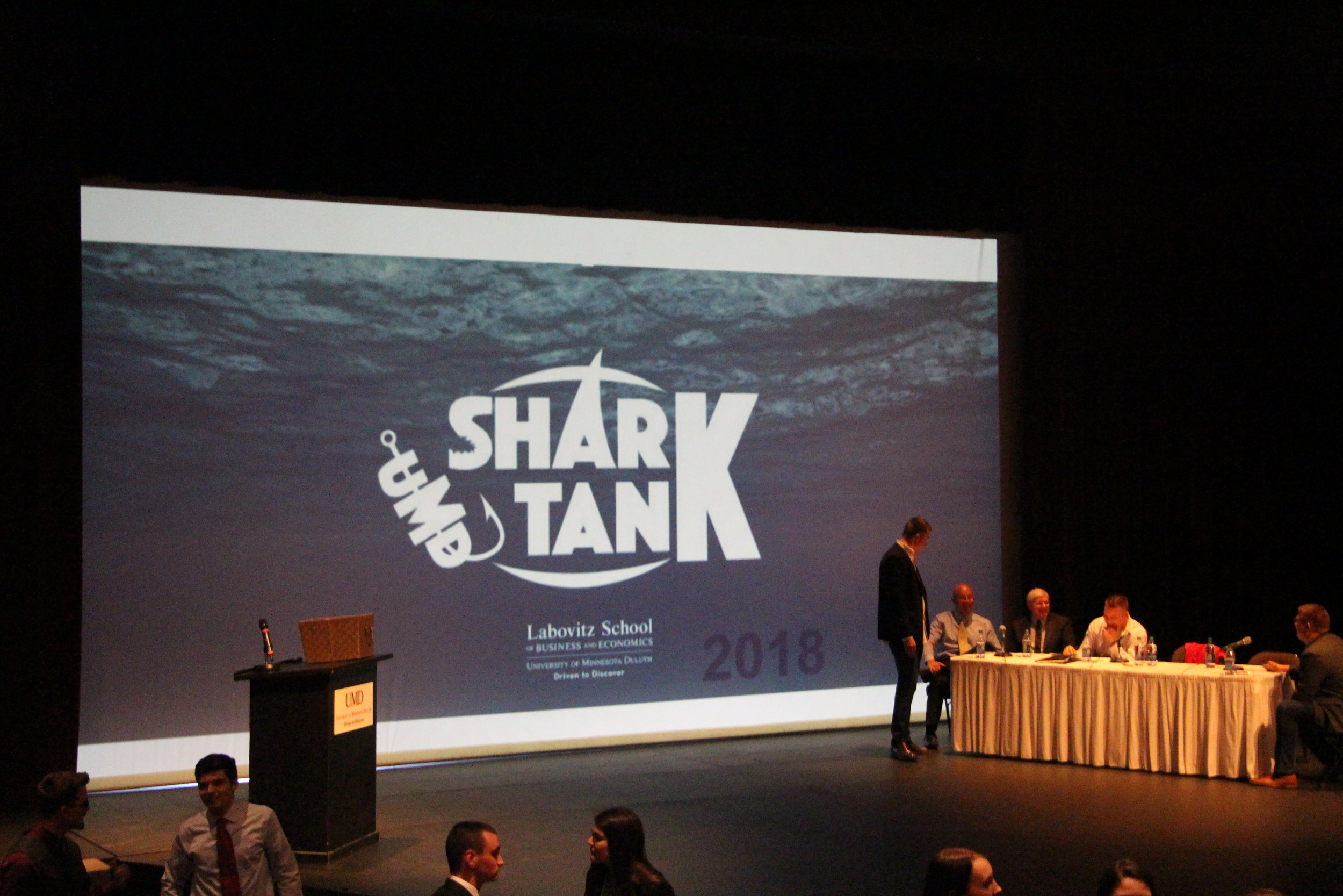 This was the third annual UMD Shark Tank Competition, based on the popular television series.Photo by Tyler Schendel.