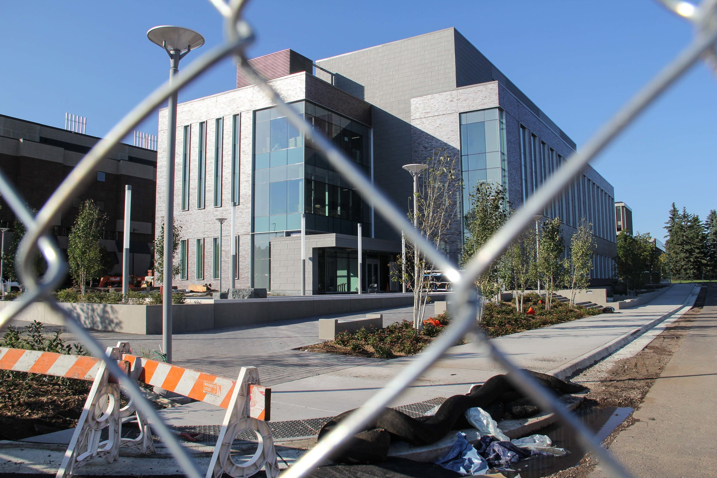 Chemistry and Advanced Materials Science Building in the process of construction. Photo by Krista Mathes