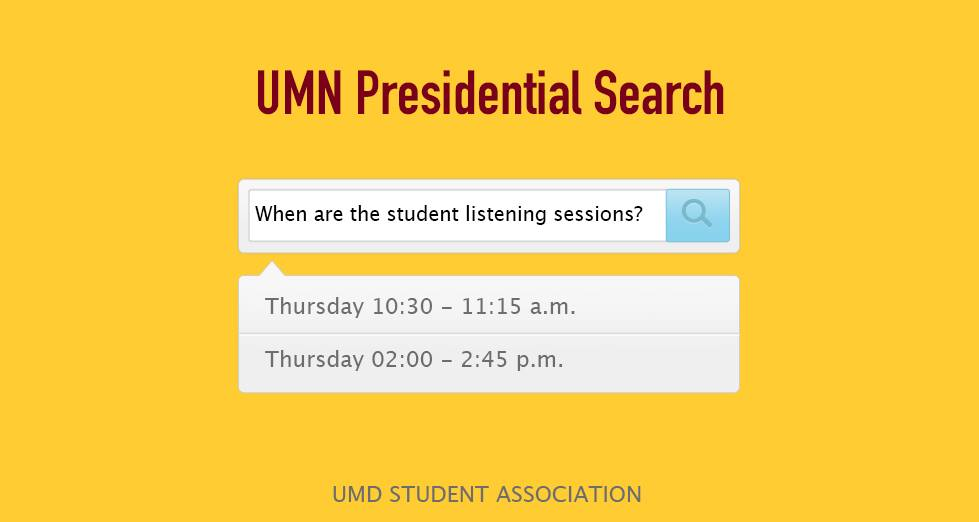 Student listening session dates and times. Photo courtesy of the Student Association
