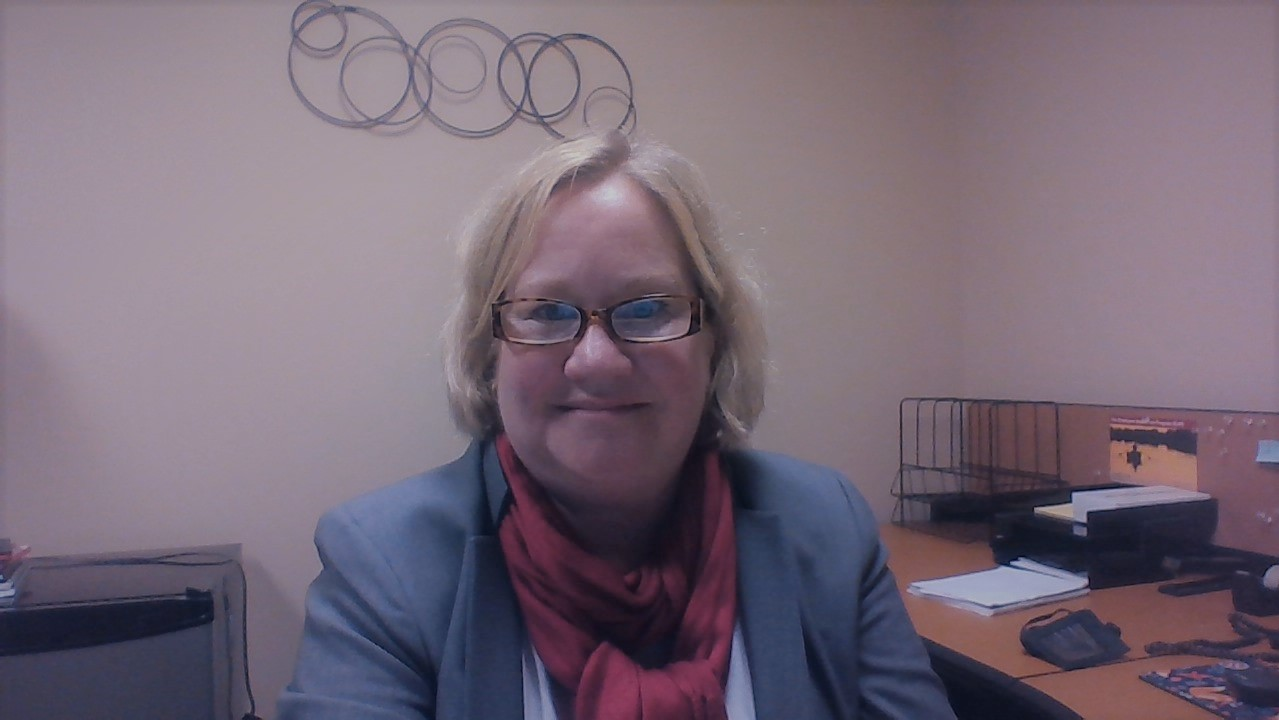Helgesen enjoyed her first day on campus on Monday, September 10. Photo courtesy of Betsy Helgesen.