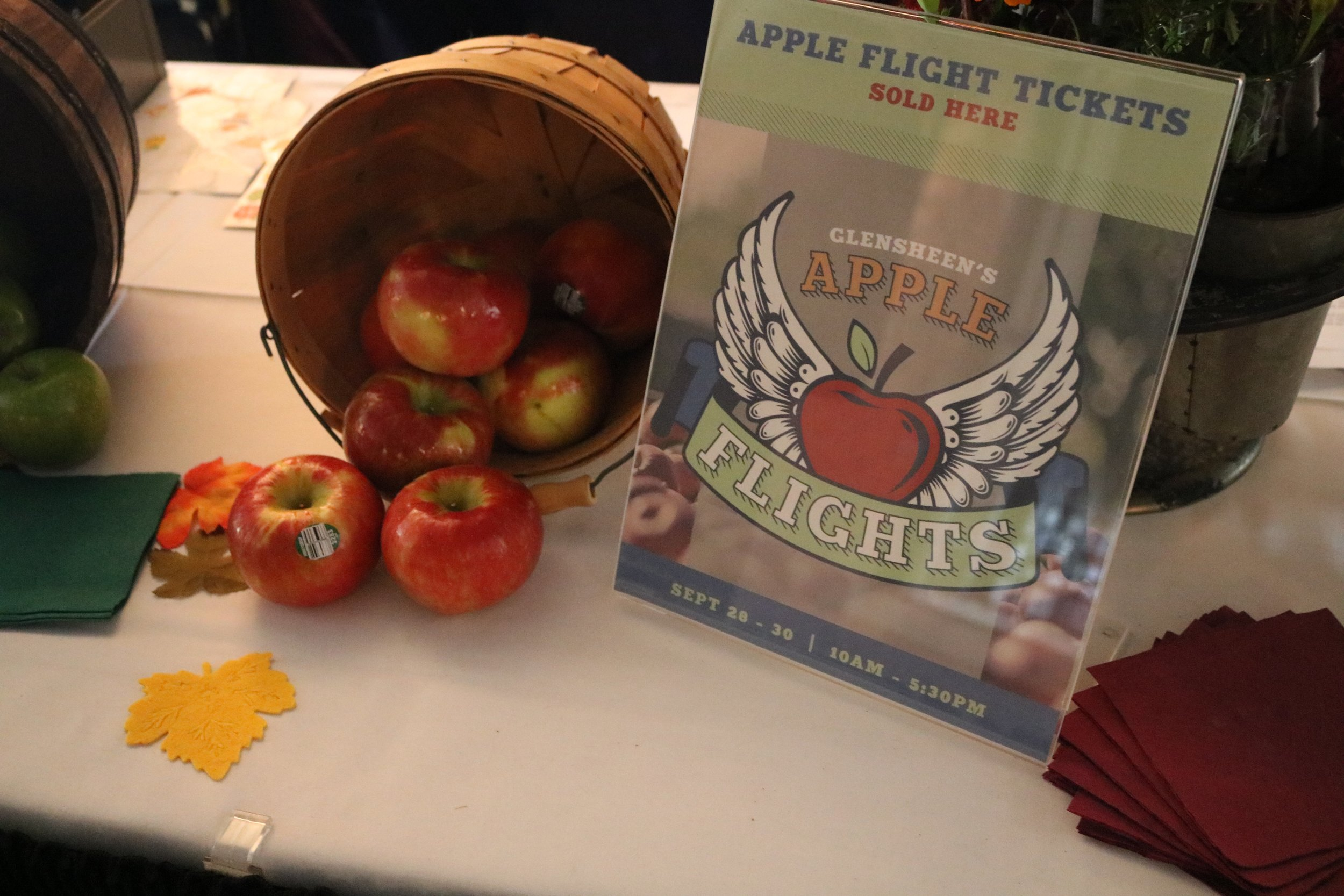 The apples used for 'Apple Flights' at Glensheen on Sept. 30, 2018. This is the first time Glensheen has done this event, but they are sure they will continue it in the future. Photo by Zack Benz